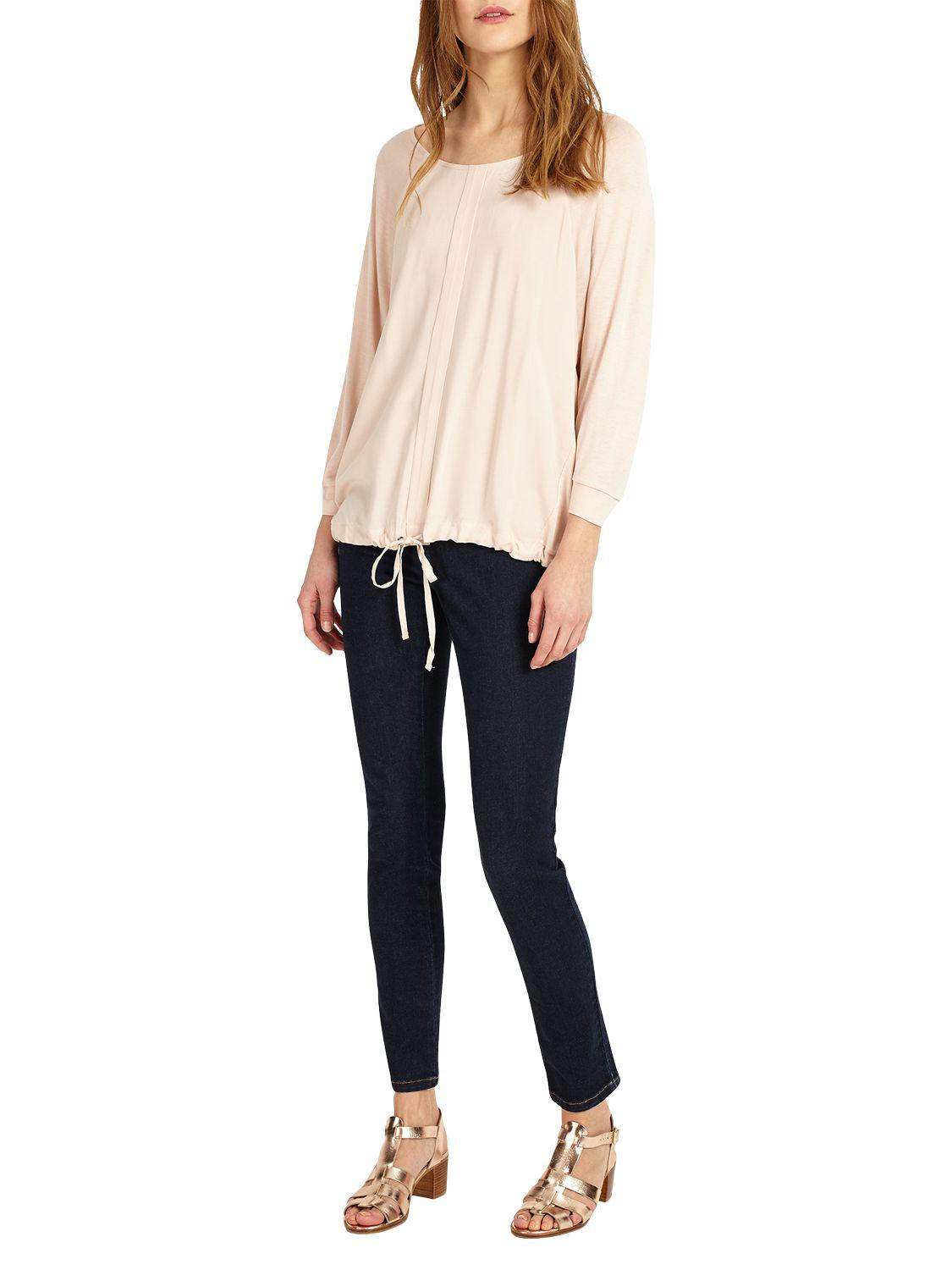 Phase Eight Denim Dion Drawstring Top in Dusty Pink (Pink)