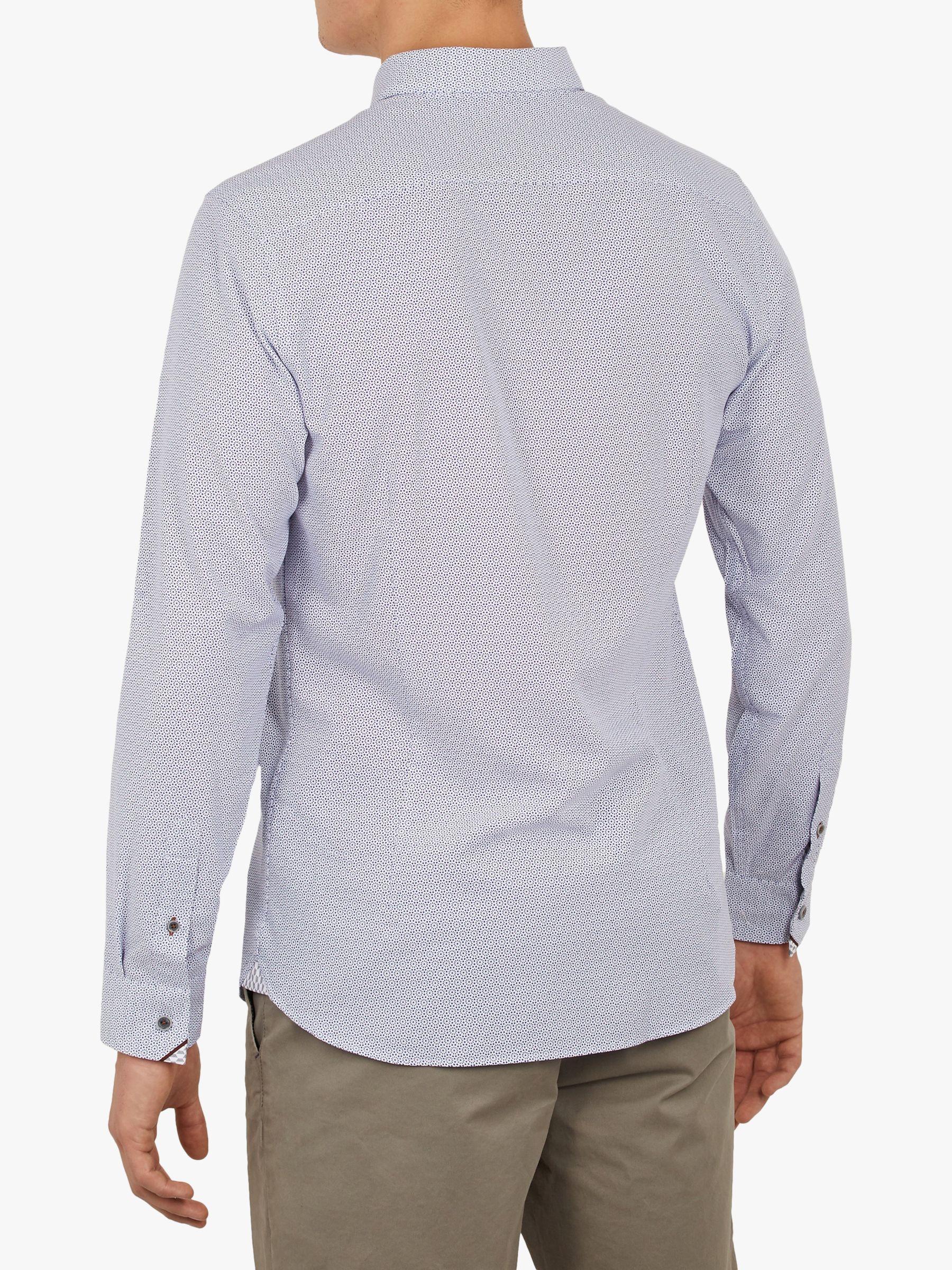 e3bb1968a267 Ted Baker - Blue Hiena Geometric Print Shirt for Men - Lyst. View fullscreen