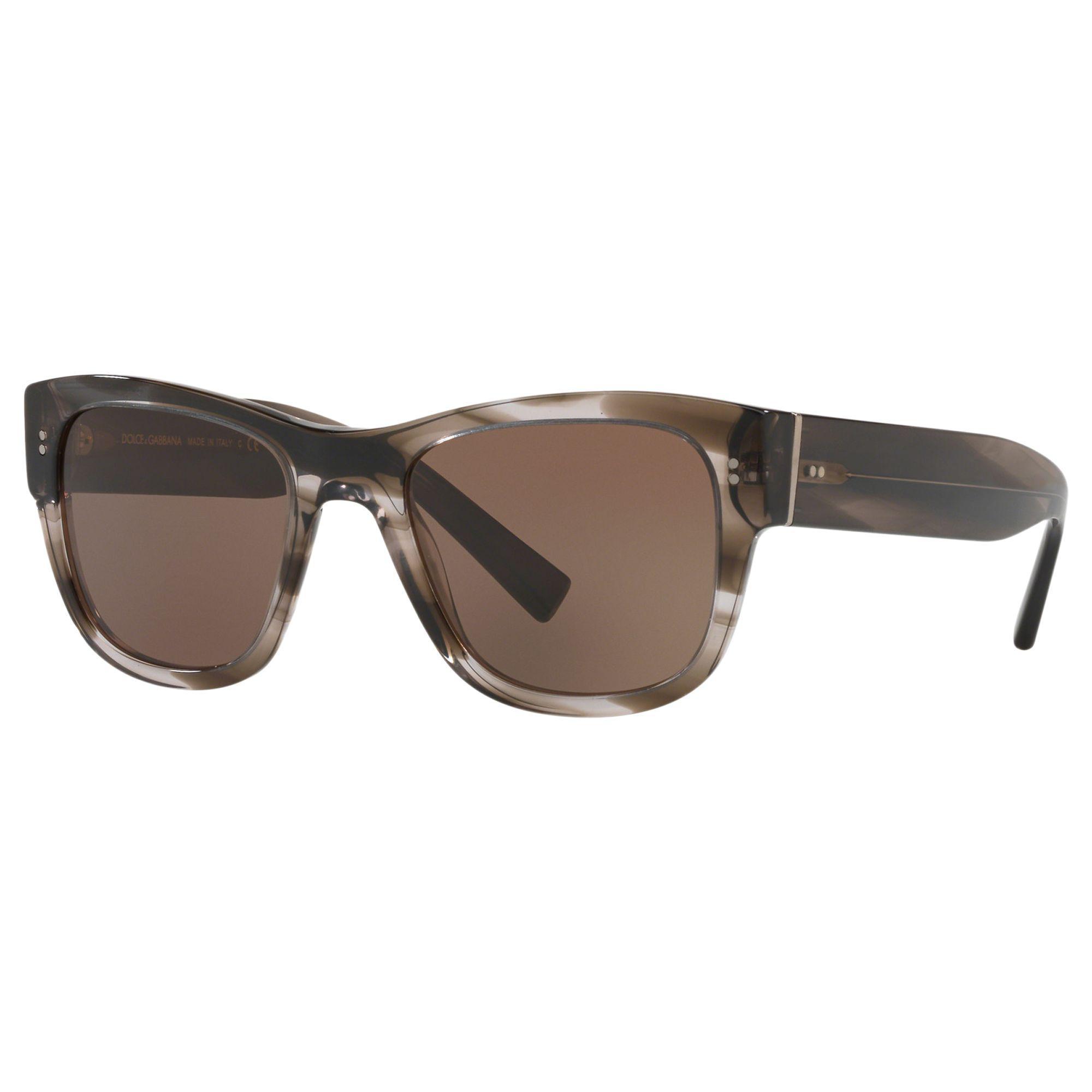 200f43d3d8 Dolce   Gabbana Dg4338 Men s Square Sunglasses in Brown for Men - Lyst