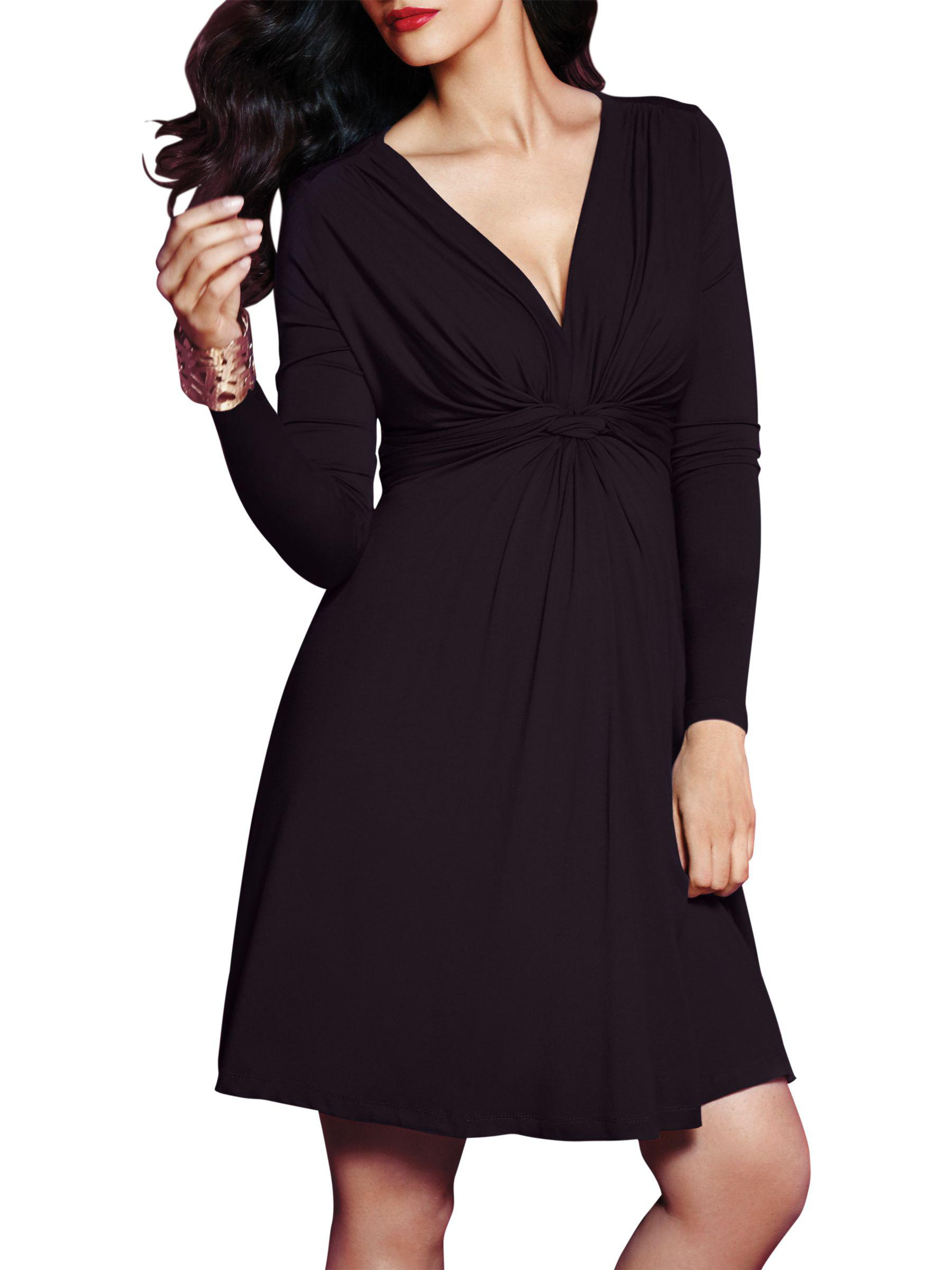 fb8b8127ead00 John Lewis Séraphine Jolene Knot Front Maternity Dress in Black - Lyst