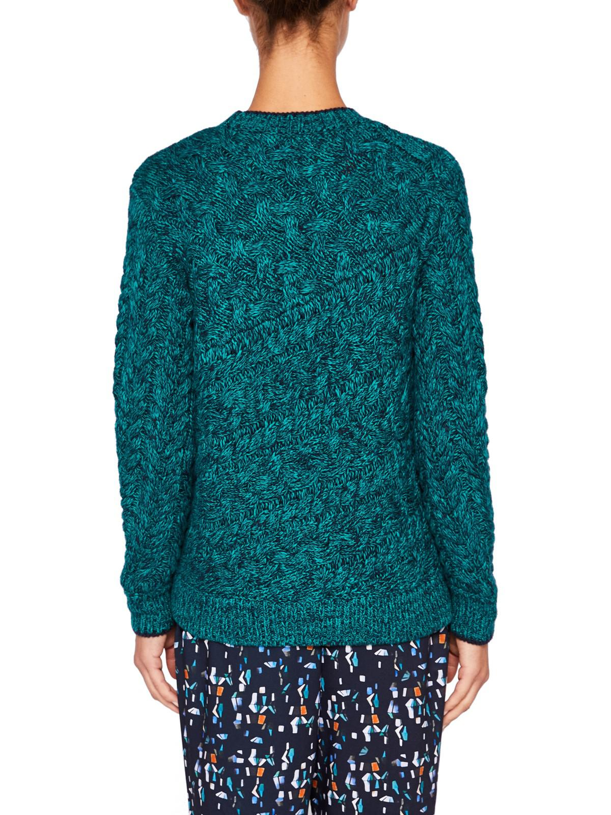 Ted Baker Colour By Numbers Charo Cable Knit Jumper in Green - Lyst
