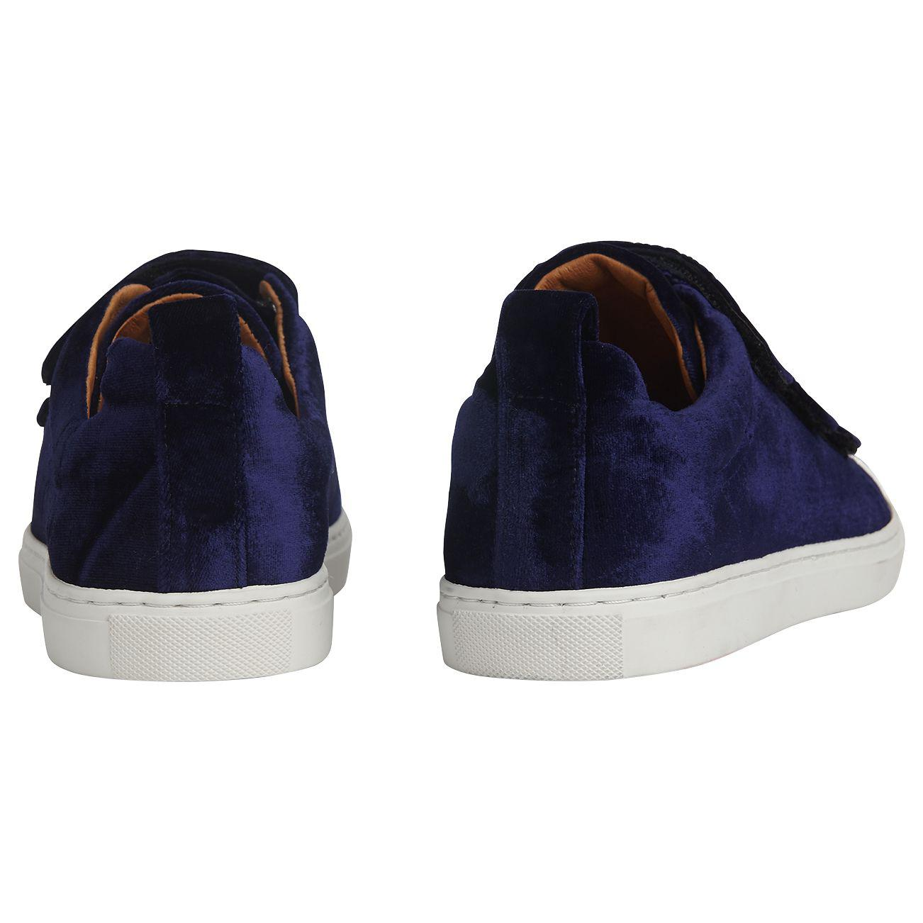Whistles Leather Aith Triple Strap Trainers in Navy (Blue)