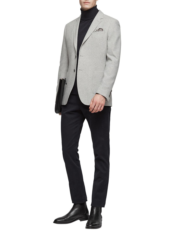 John Lewis Wool Reiss Sodium Modern Fit Suit Jacket in Soft Grey (Grey) for Men