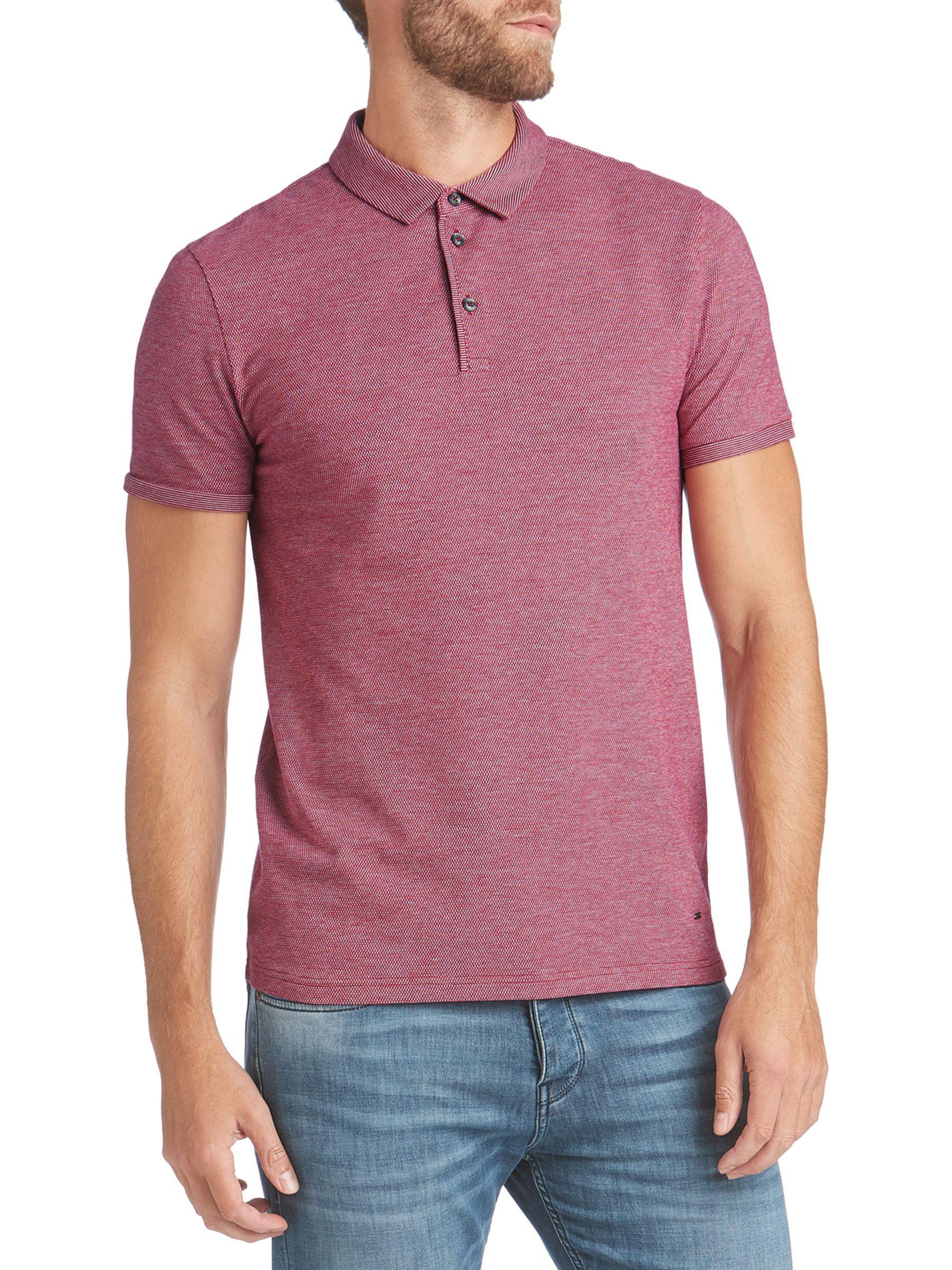 5d08deb608b3 Boss Boss Proses Short Sleeve Polo Shirt in Purple for Men - Lyst