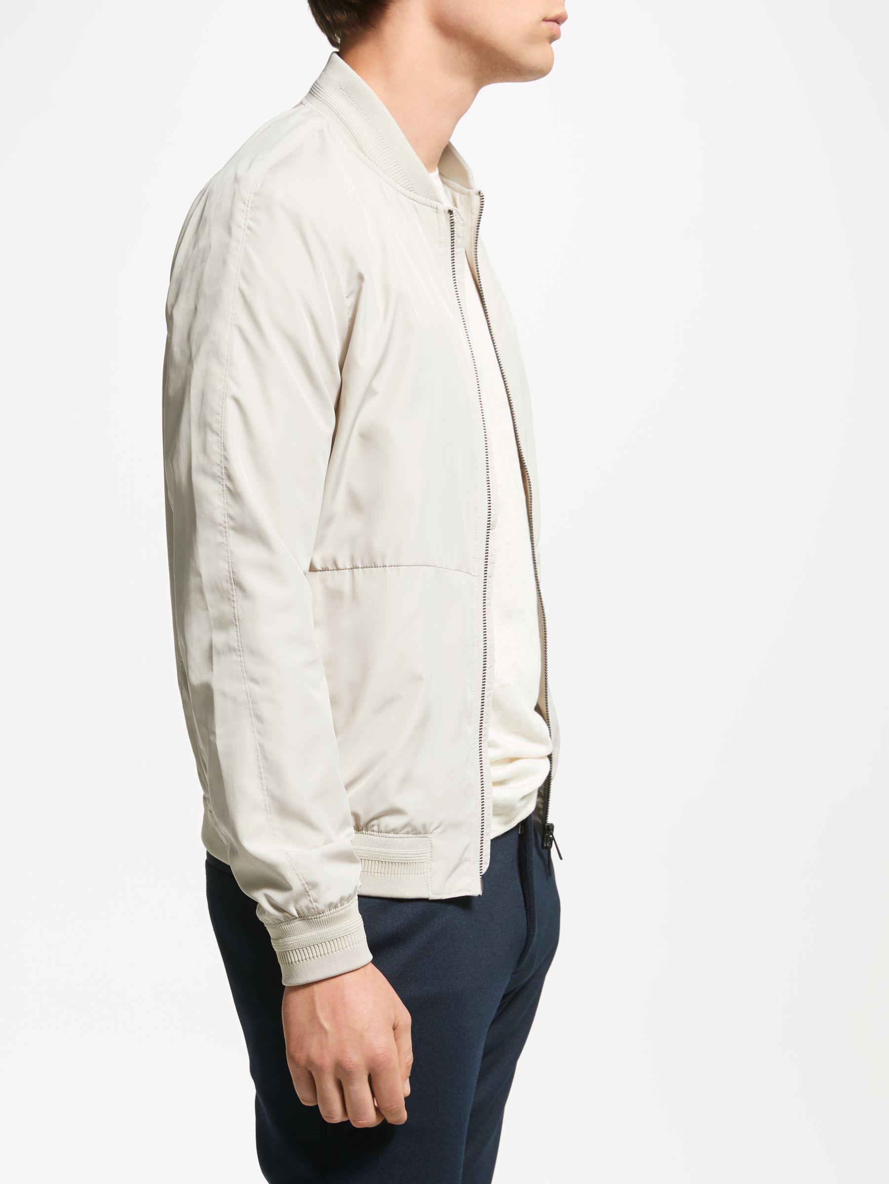 J.Lindeberg Denim Thom Bomber Jacket in White for Men