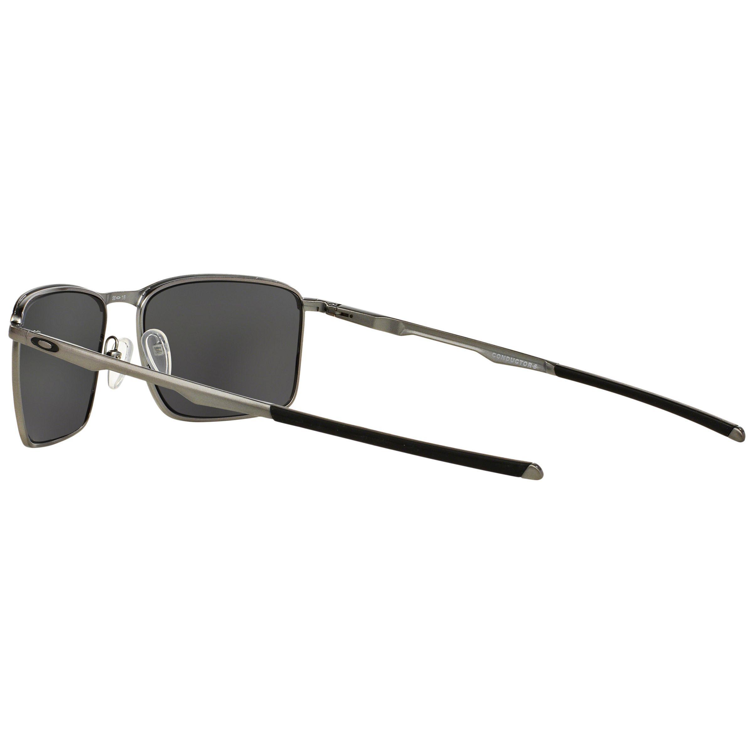 Oakley Oo4106 Conductor 6 Polarised Rectangular Sunglasses in Black for Men