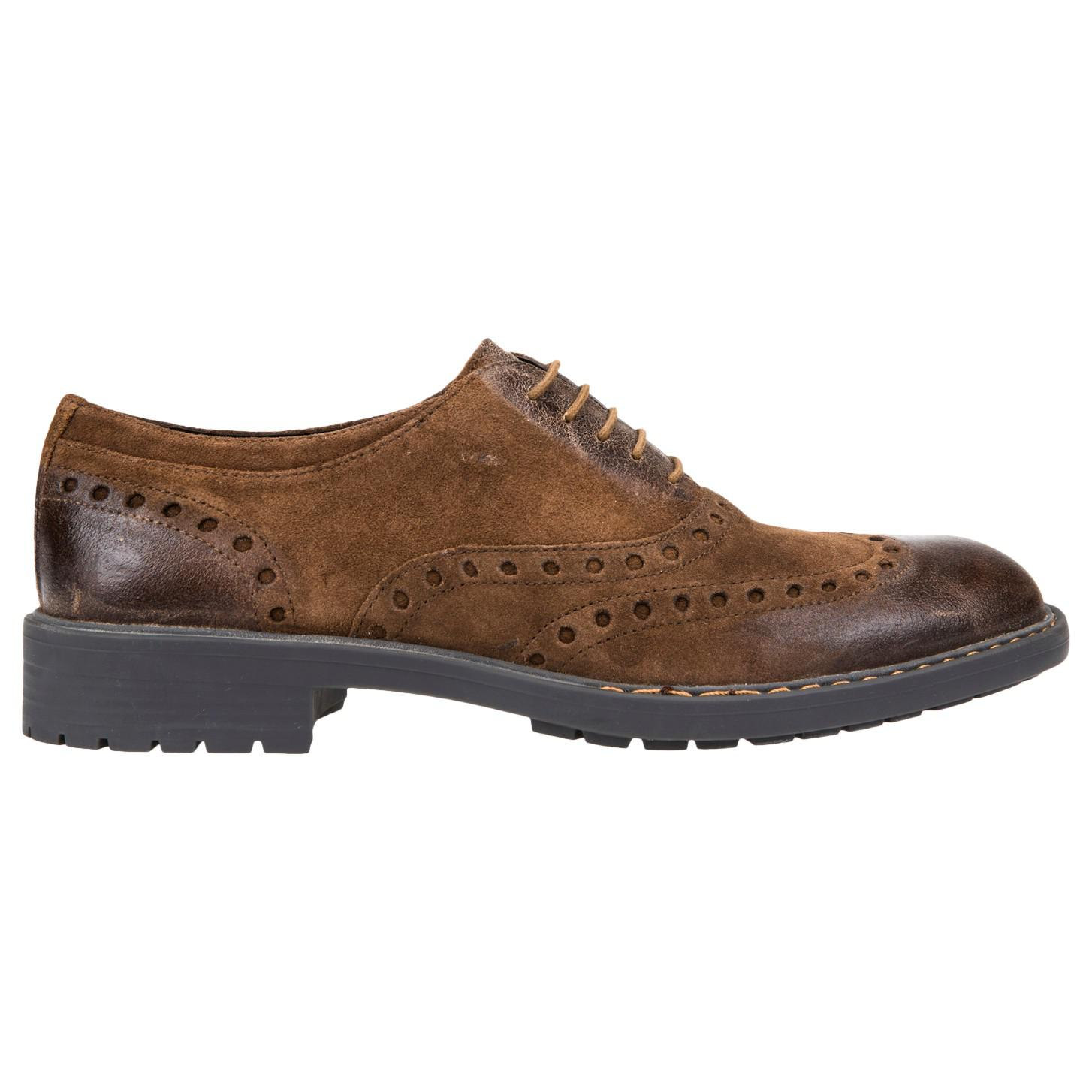 Geox Kapsian Leather Oxford Brouge Shoes in Light Brown (Brown) for Men