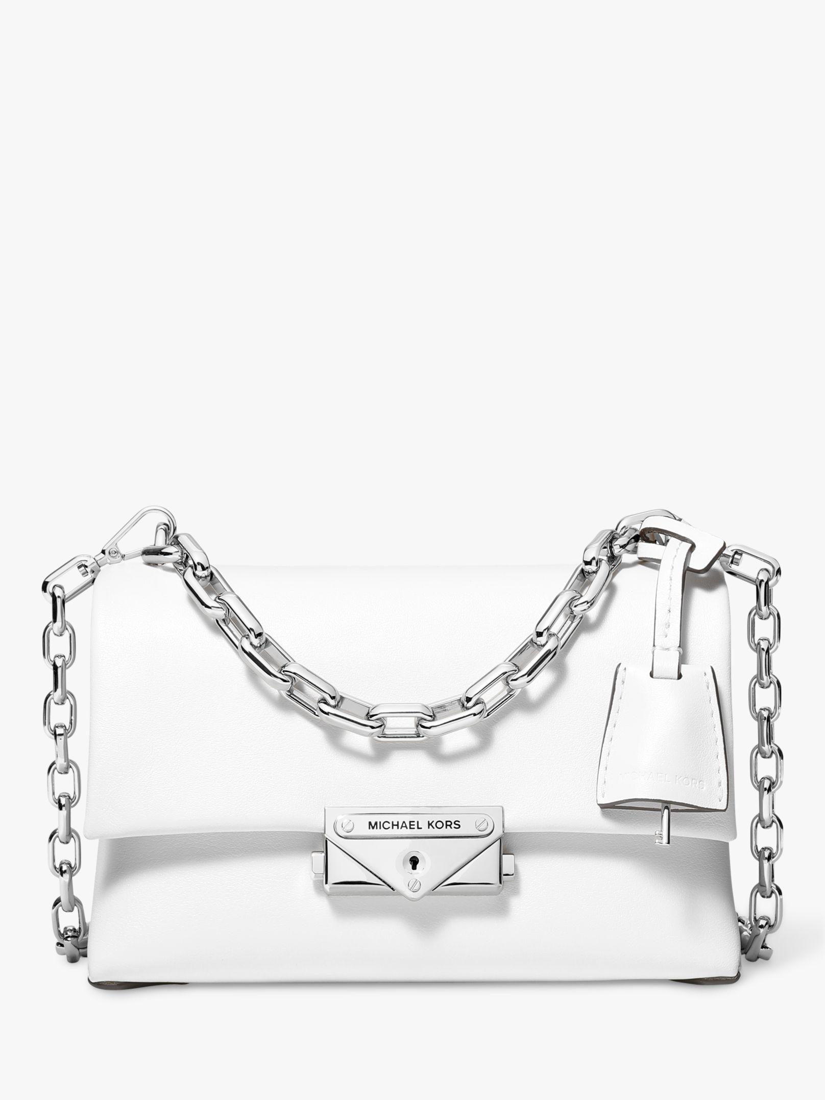 c20be243f0e3 Michael Kors. Women's White Michael Cece Small Chain Cross Body Bag. £270  From John Lewis ...