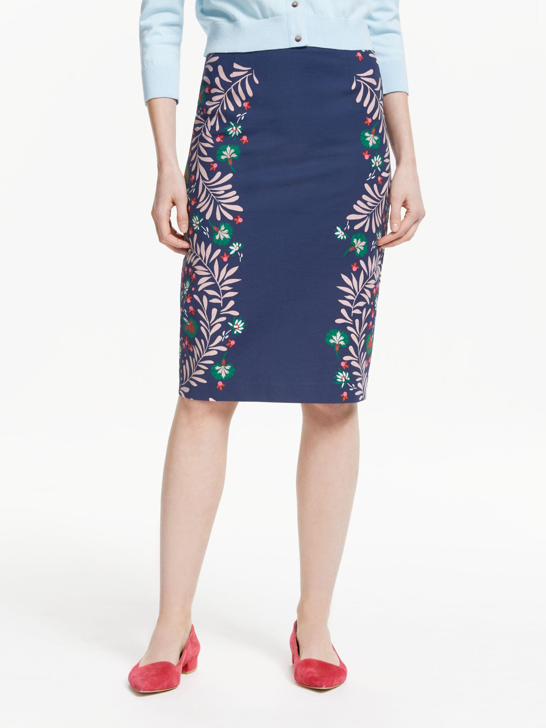 39986db4f Boden Richmond Stretch Cotton Pencil Skirt in Blue - Lyst