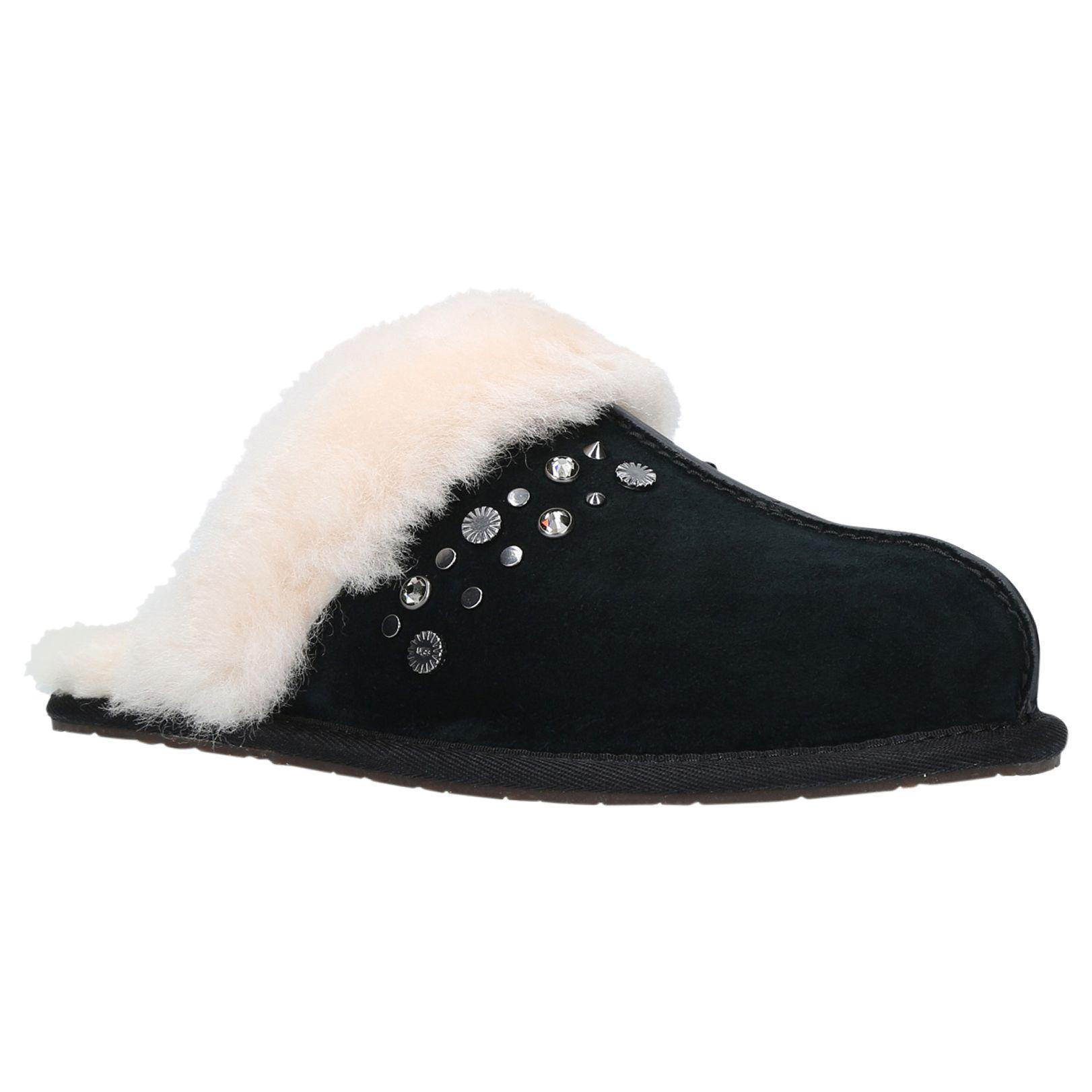 15de63cbdf43 Ugg Scuffette Ii Bling Stud Sheepskin Slippers in Black - Lyst