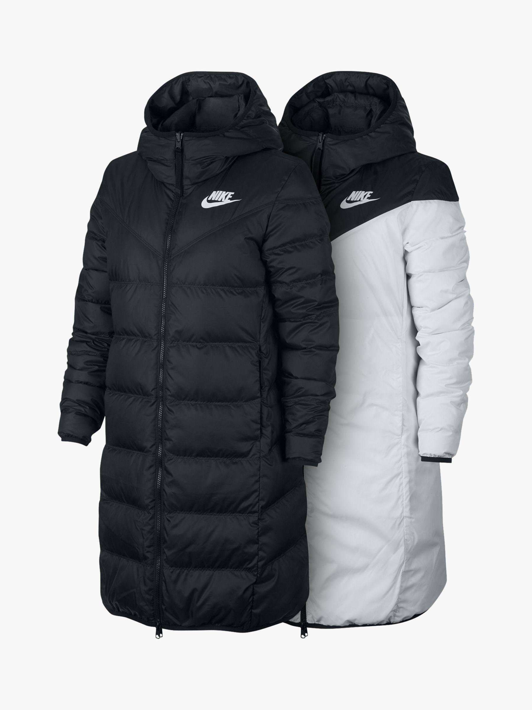 Nike Synthetic Down Fill Women S Reversible Parka Coat In