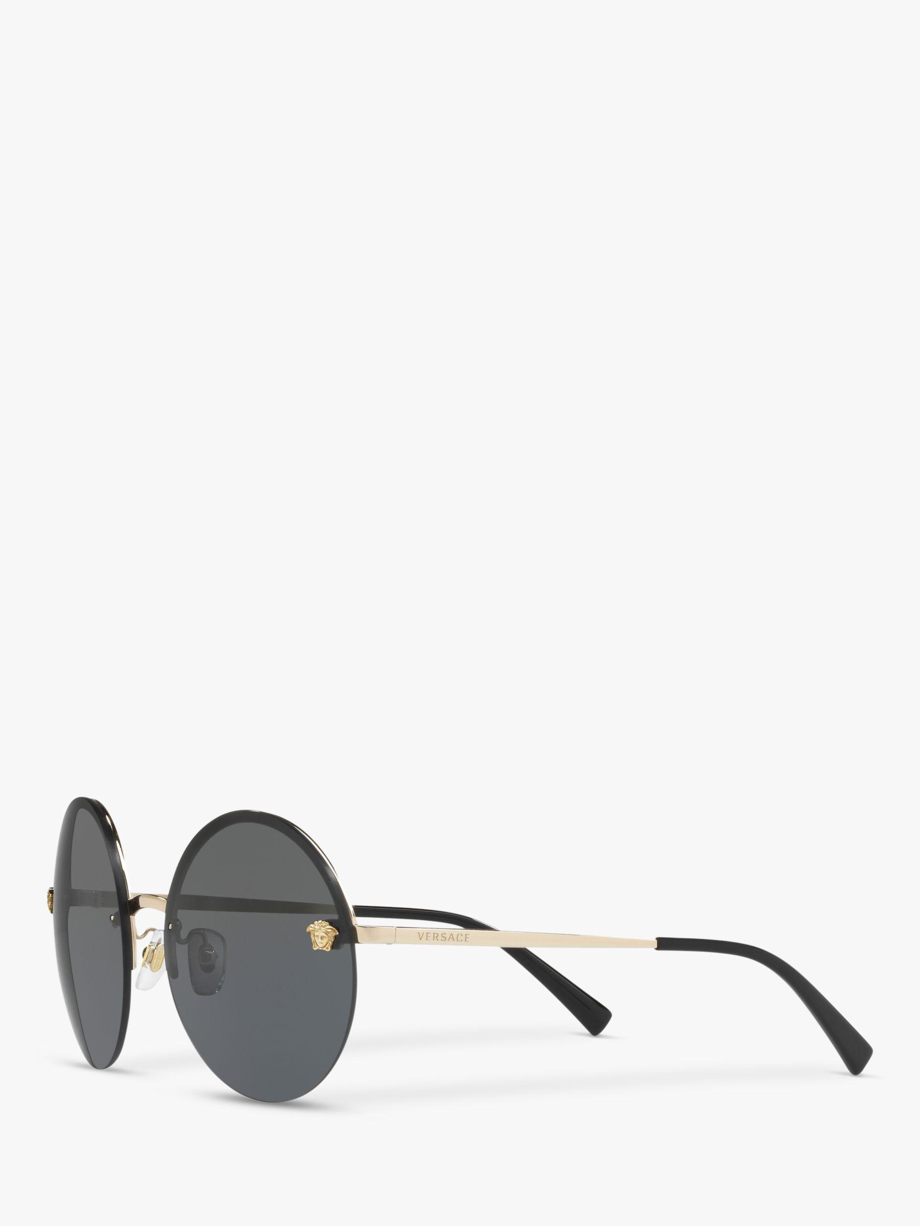 c55ef55004cc Versace Pale Gold Ve2176 Round Sunglasses in Yellow - Lyst