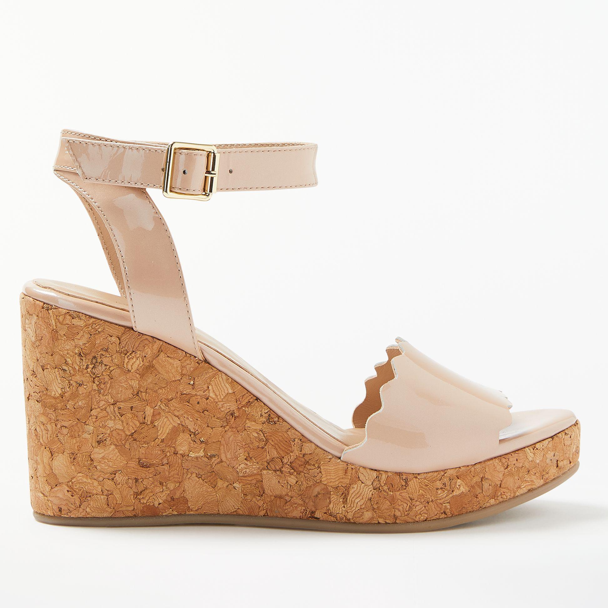 Wedge Heel Natural In Lewis Sandals Lyst Katrina John vIyY7gmb6f