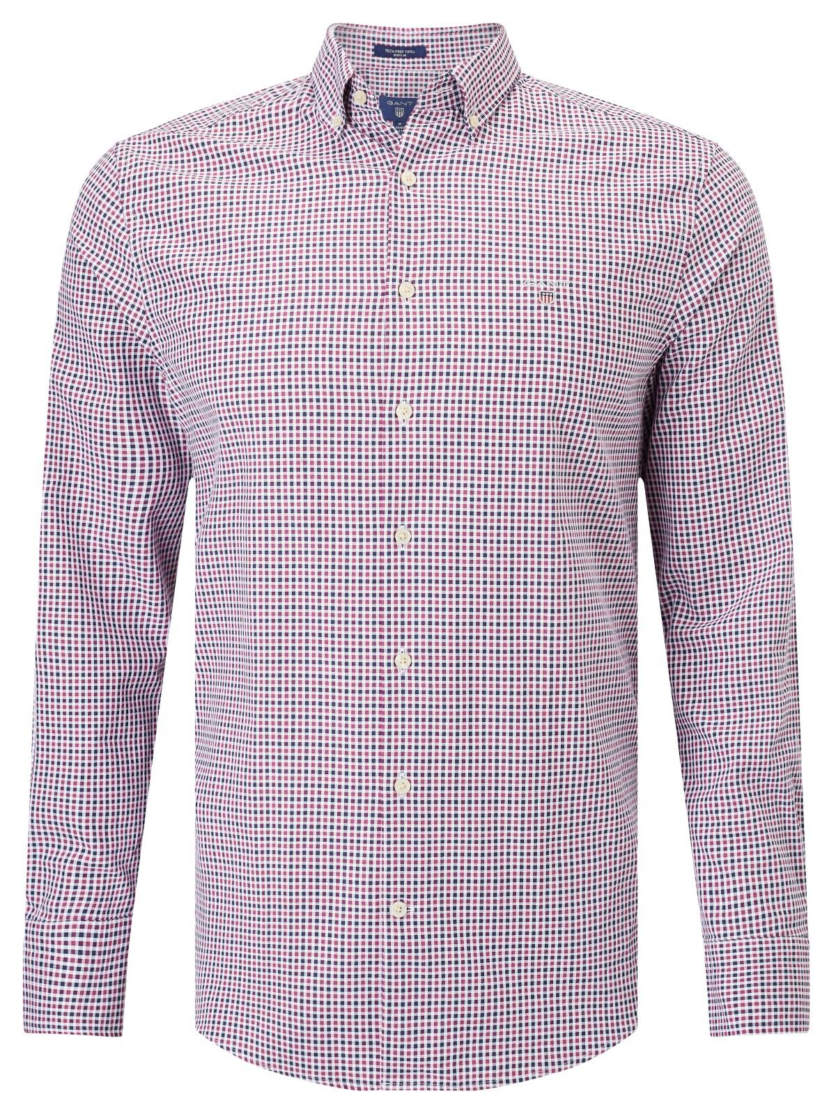 47e02b1a4af GANT Technical Prep Twill Check Shirt in Purple for Men - Lyst