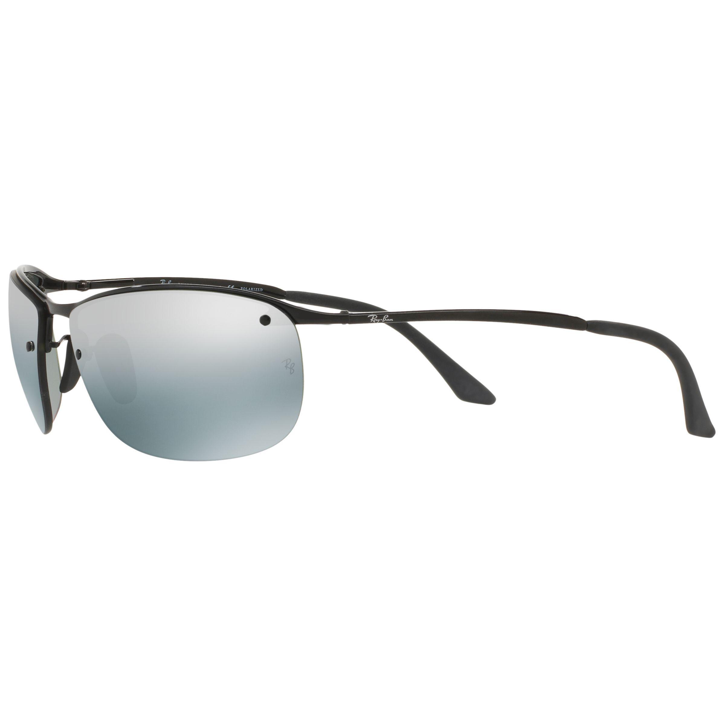 dc3486445e Ray-Ban Rb3542 Polarised Chromance Rectangular Sunglasses in Black ...