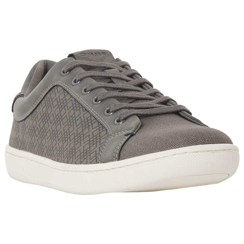 Dune Denim Tevez Fabric Trainers in Grey (Grey) for Men