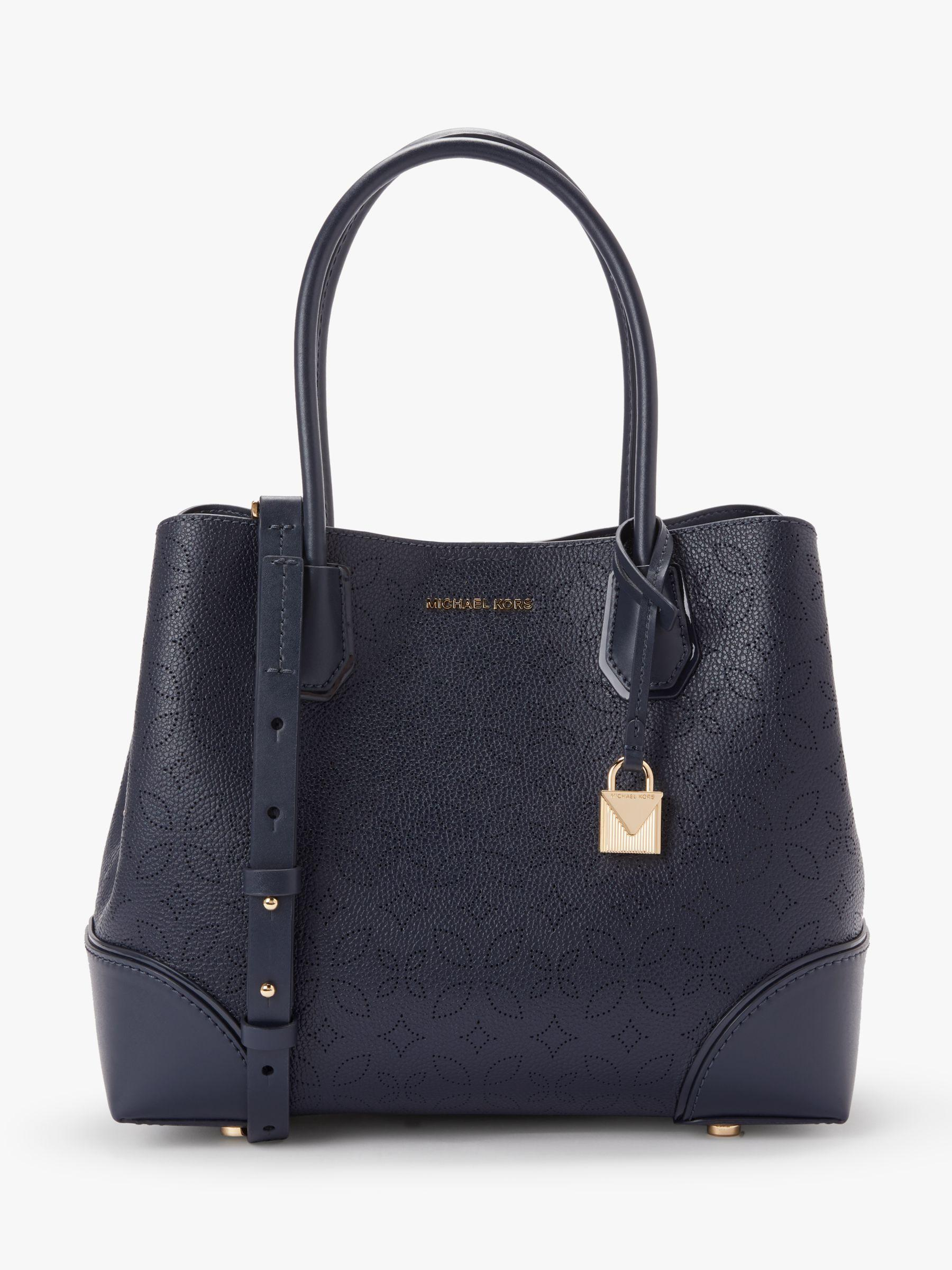 7879cebd5965 Michael Kors - Blue Michael Mercer Gallery Medium Leather Tote Bag - Lyst.  View fullscreen