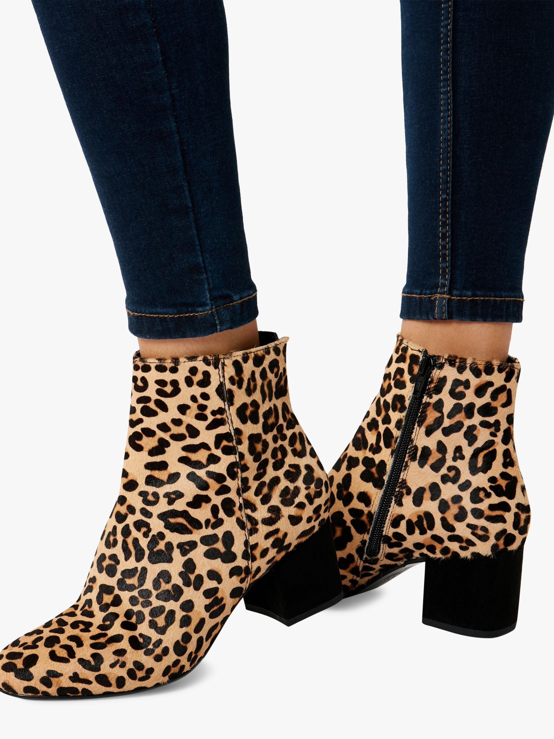 cd5ea12e84d Dune Olyvea Block Heeled Ankle Boots in Brown - Lyst
