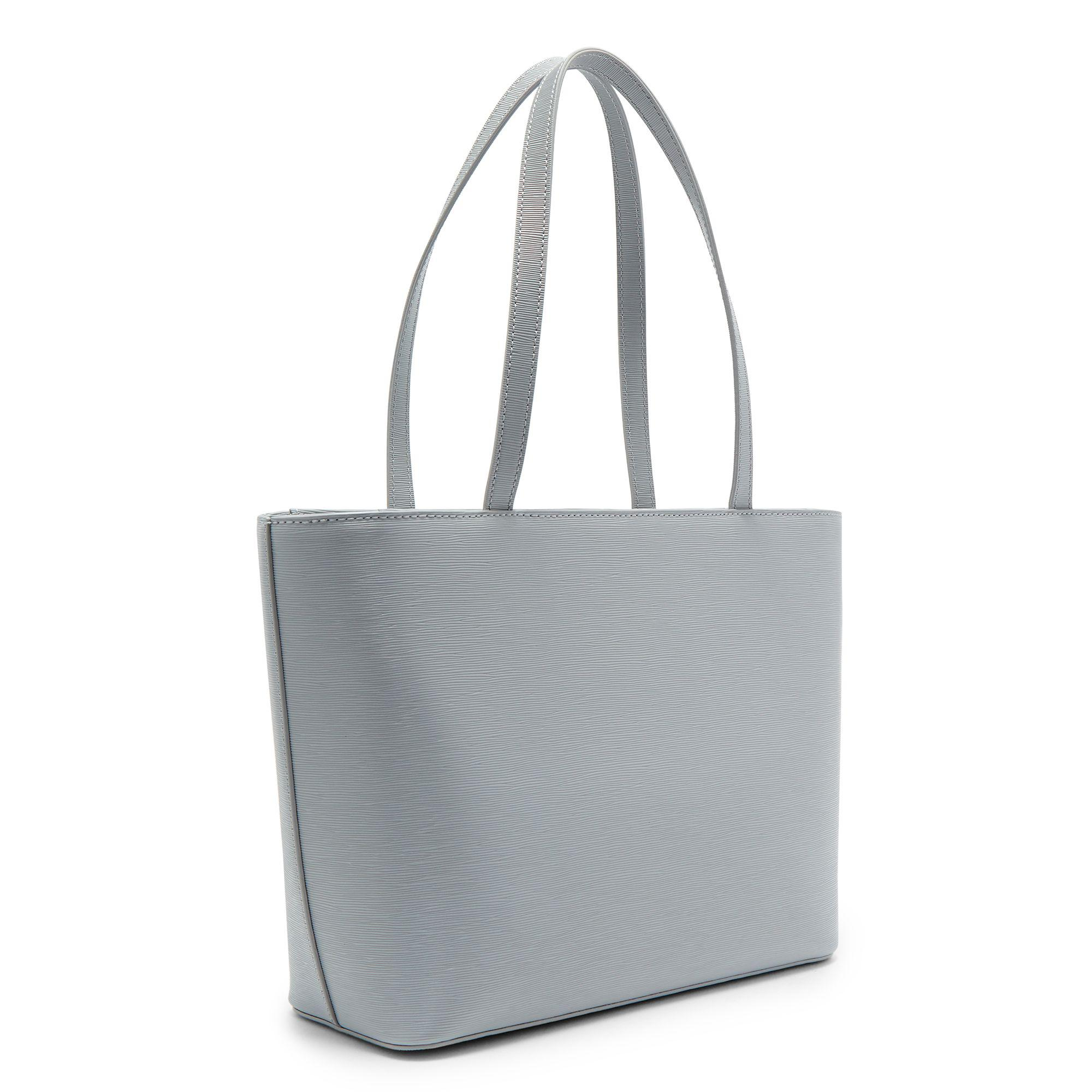 47a3cf6ddfd80f Ted Baker Deanie Bow Leather Small Shopper Bag in Gray - Lyst