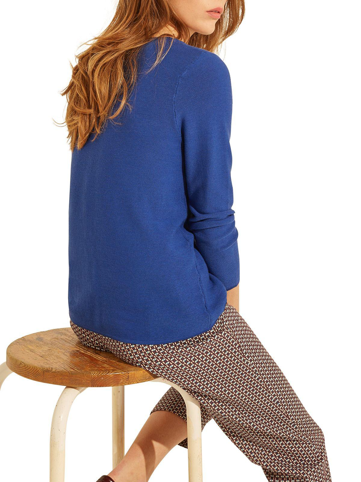 Gerard Darel Silk Fun Pullover in Blue
