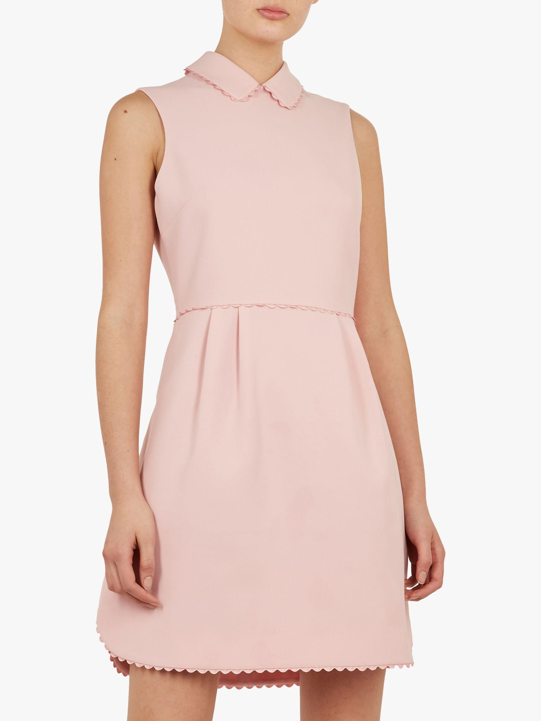 7d386dd94 Ted Baker Ezzy Curved Hem Scallop Detail Dress in Pink - Lyst