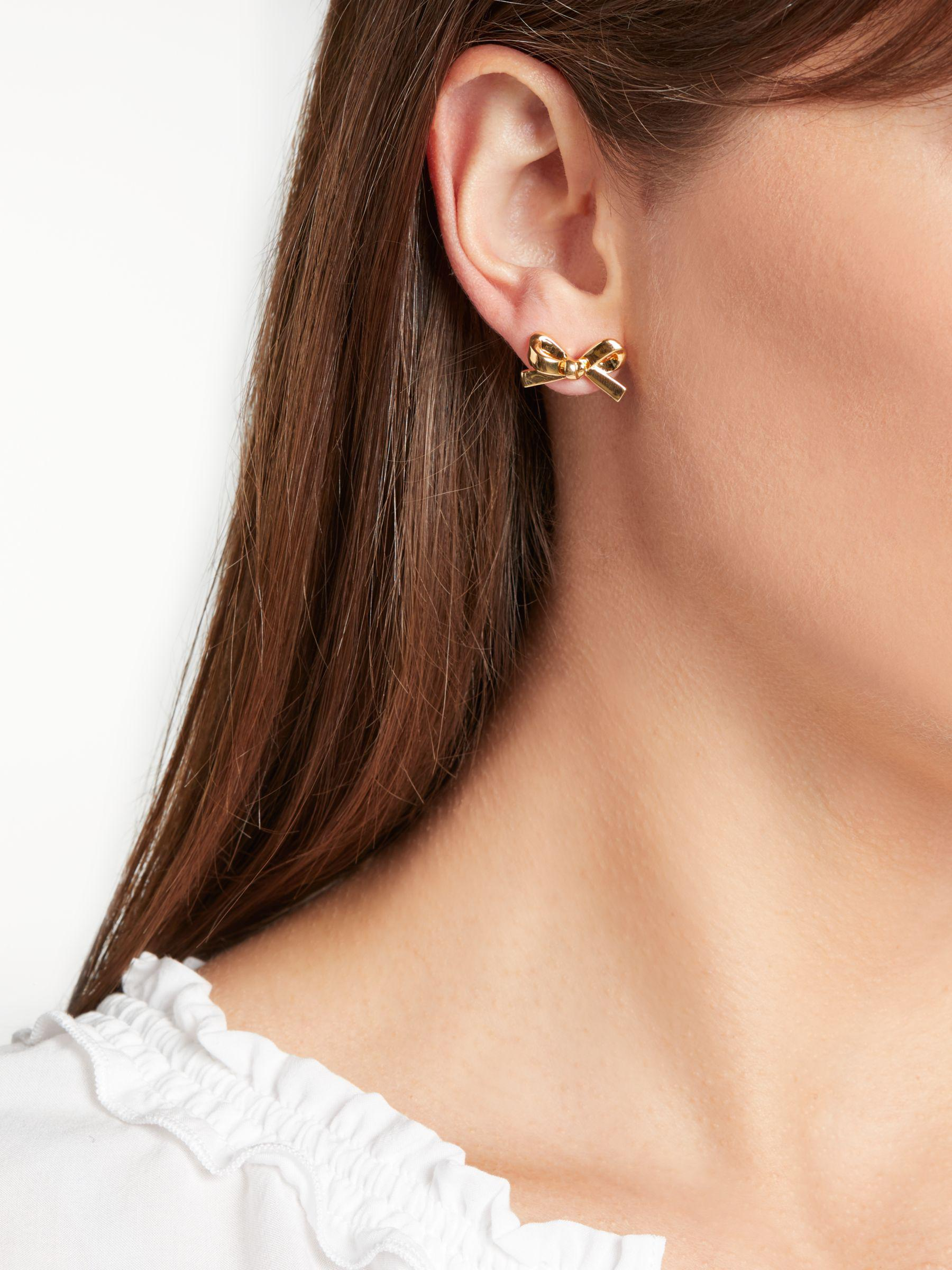 Kate Spade Bow Stud in Gold (Metallic)