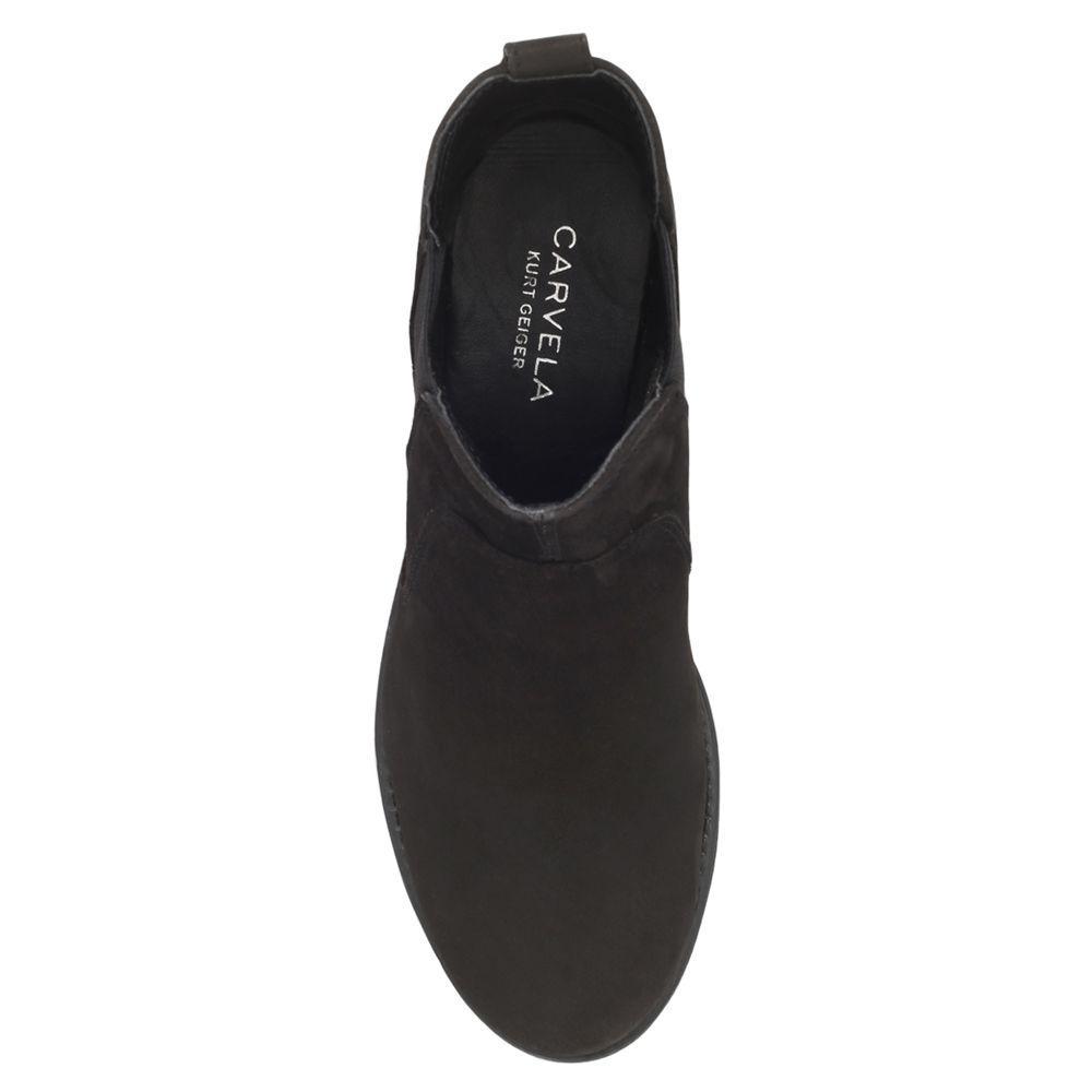 Carvela Kurt Geiger Denim Solid Slip On Ankle Boots in Black