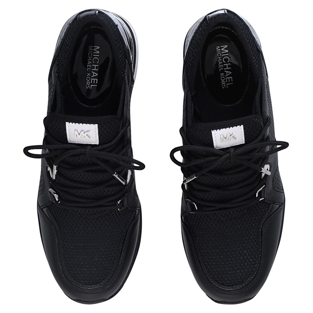 MICHAEL Michael Kors Leather Scout Lace Up Trainers in Black for Men