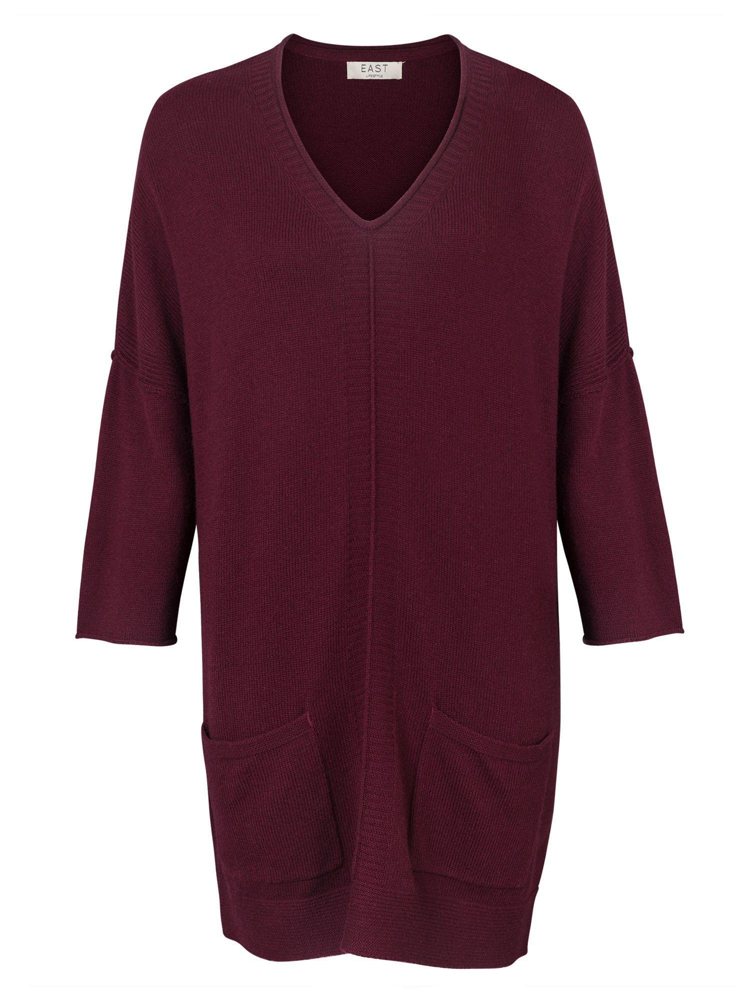John Lewis Wool East V-neckline Tabard Top in Purple