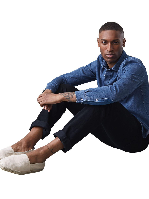 Reiss Gariss Slim Fit Denim Shirt in Blue for Men