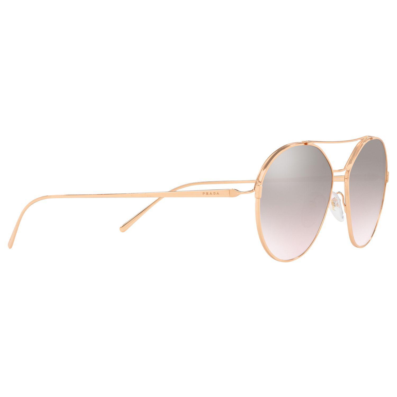 ae443b099b650 Prada 56us Women s Geometric Sunglasses in Metallic - Lyst