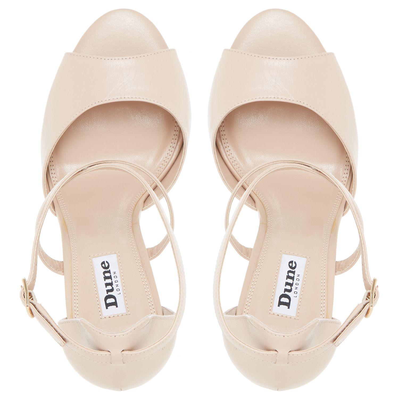 42894b496c6 Dune Kasino Cross Strap Wedge Sandals in Natural - Lyst