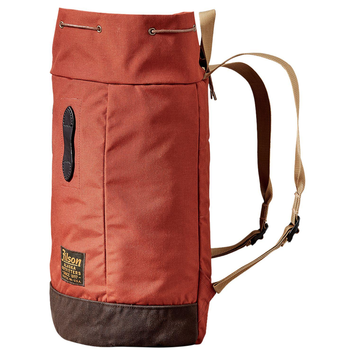 Filson Synthetic Ballistic Nylon Day Backpack in Rust Red (Red) for Men