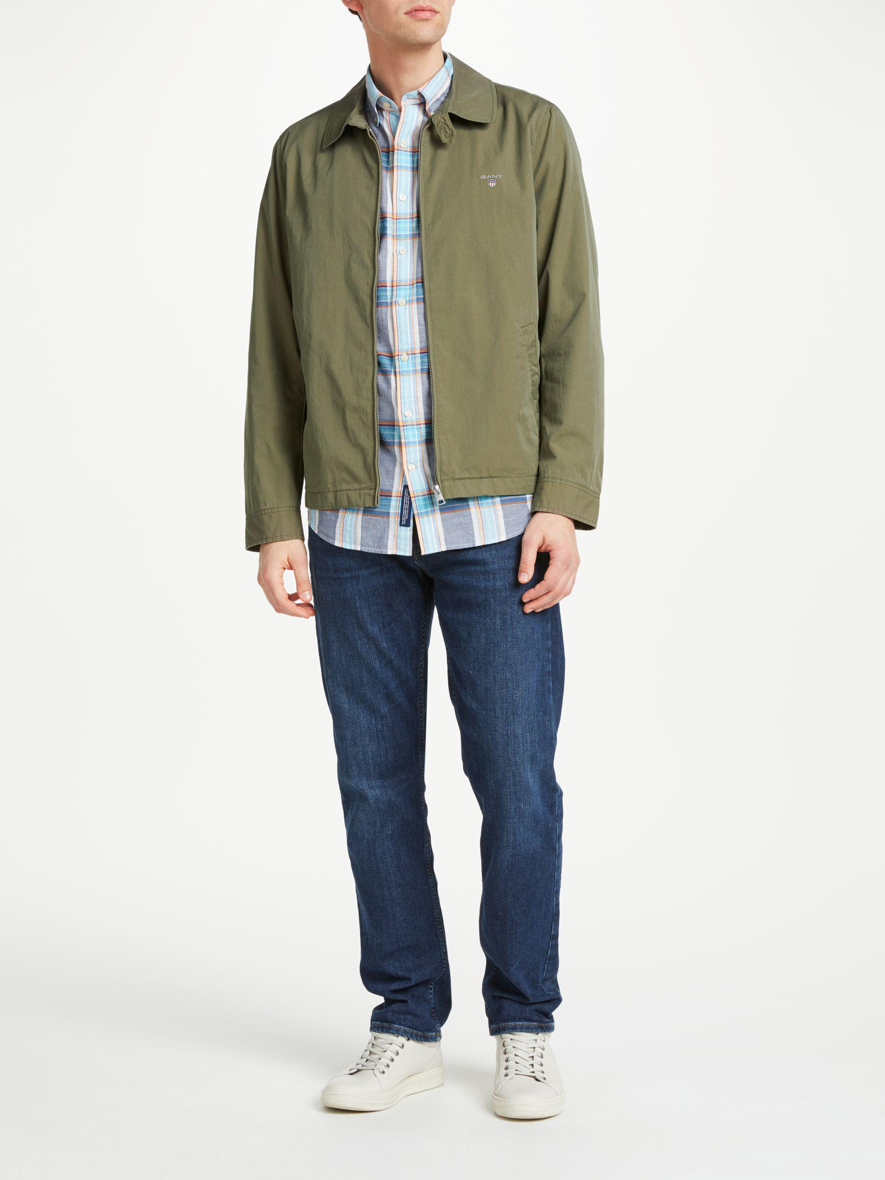 GANT Cotton Windcheater Collared Jacket in Khaki (Green) for Men