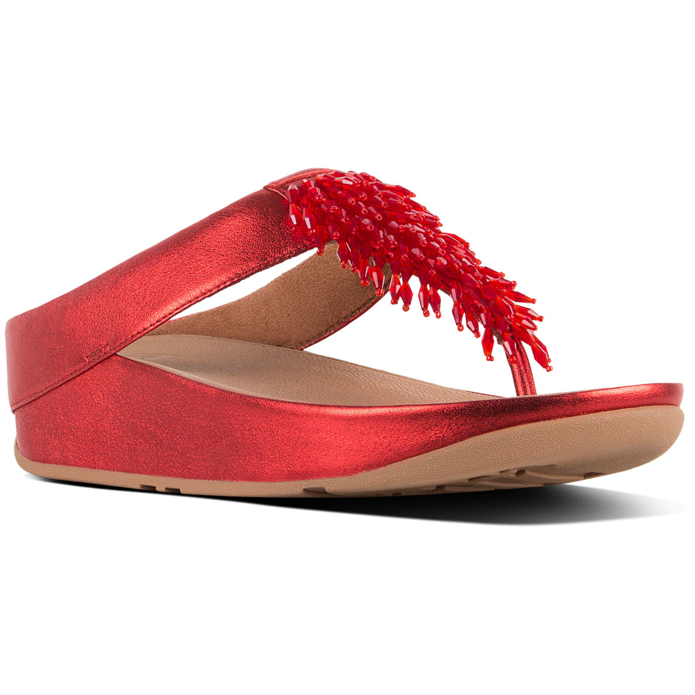 c613abe8b Fitflop - Red Rumba Embellished Toe Post Sandals - Lyst. View fullscreen