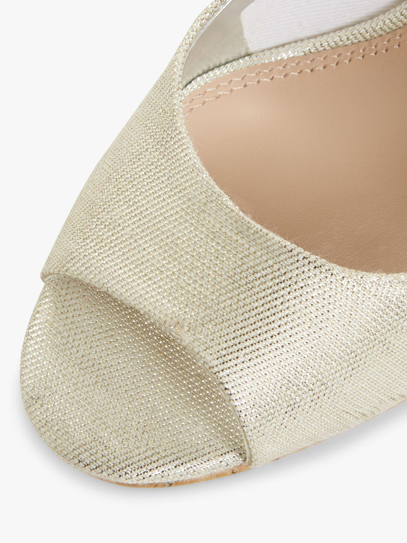 Women's Caydence Peep Toe Cork Wedge Court Shoes