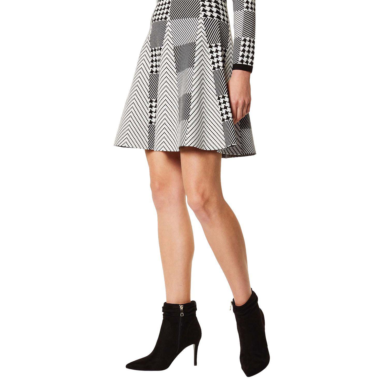 Karen Millen Pointed Toe Stiletto Heel Ankle Boots in Black