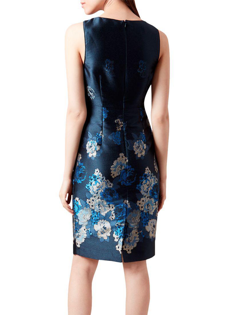 Hobbs Yen Blue Multi Dress Various Sizes RRP £249.