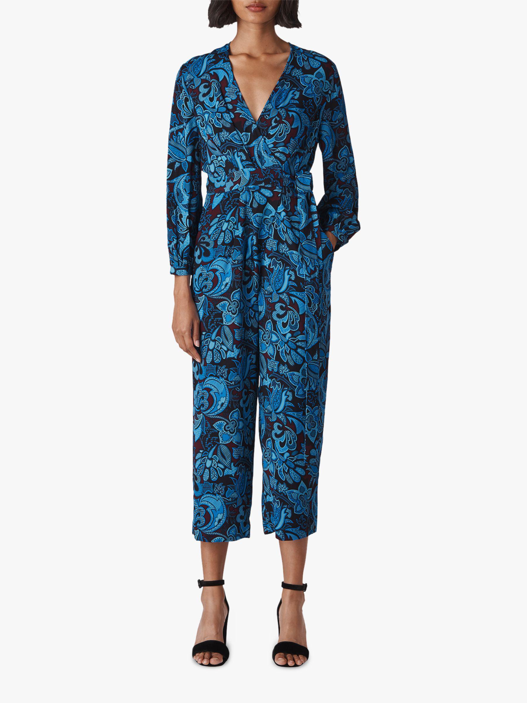 7e0d1c657cae Whistles Parker Print Jumpsuit in Blue - Lyst