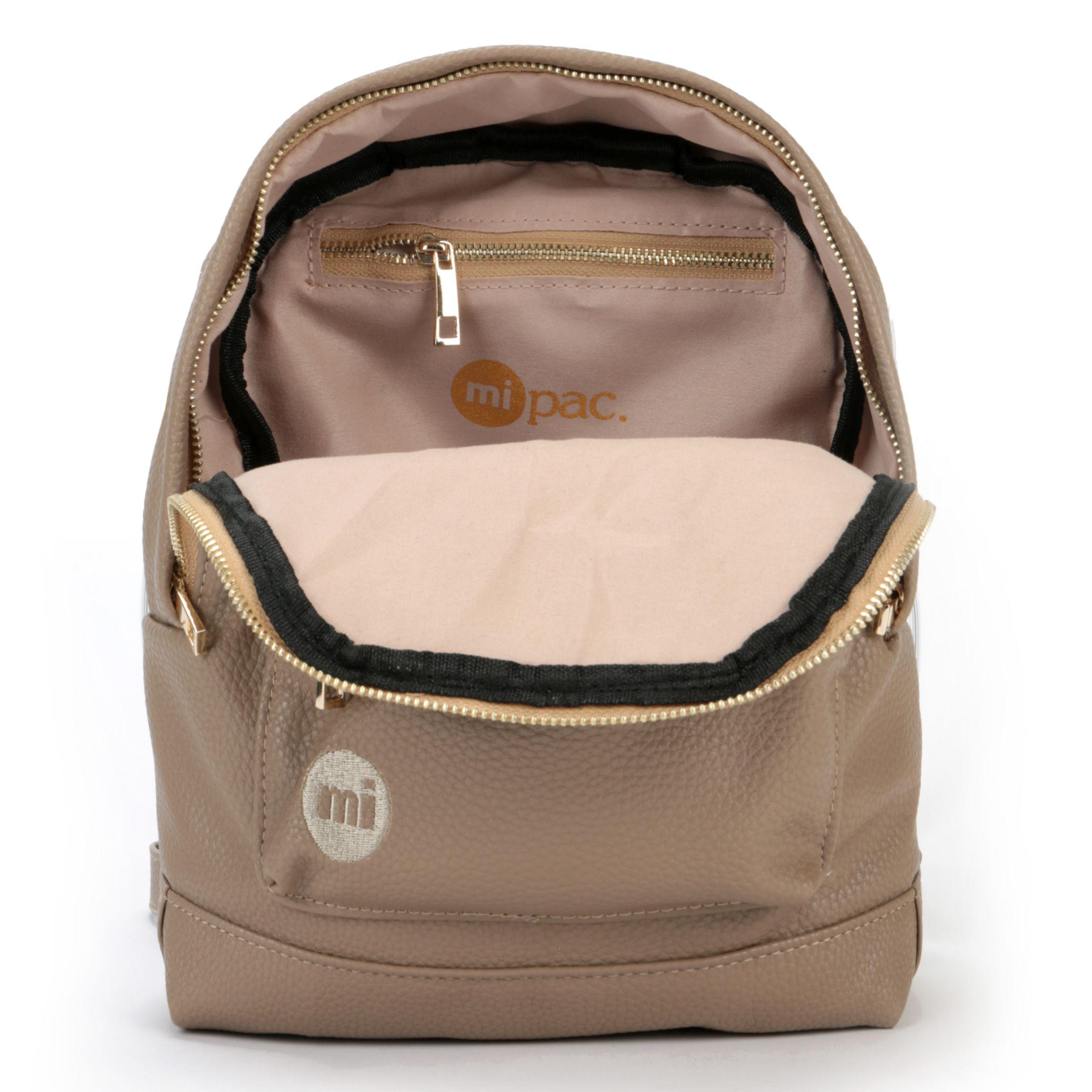 Mi-Pac Tumbled Mini Backpack in Beige (Natural)