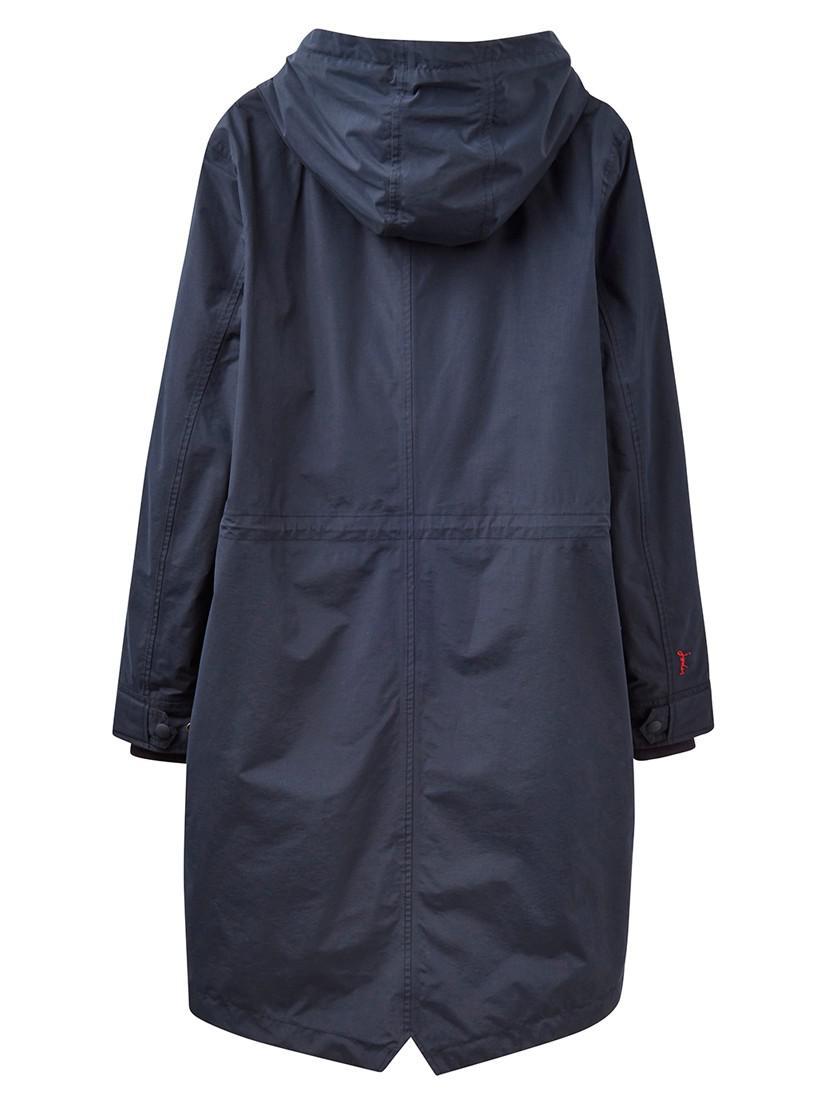 Joules Fleece Right As Rain Stormont Waterproof Parka in Marine Navy (Blue)