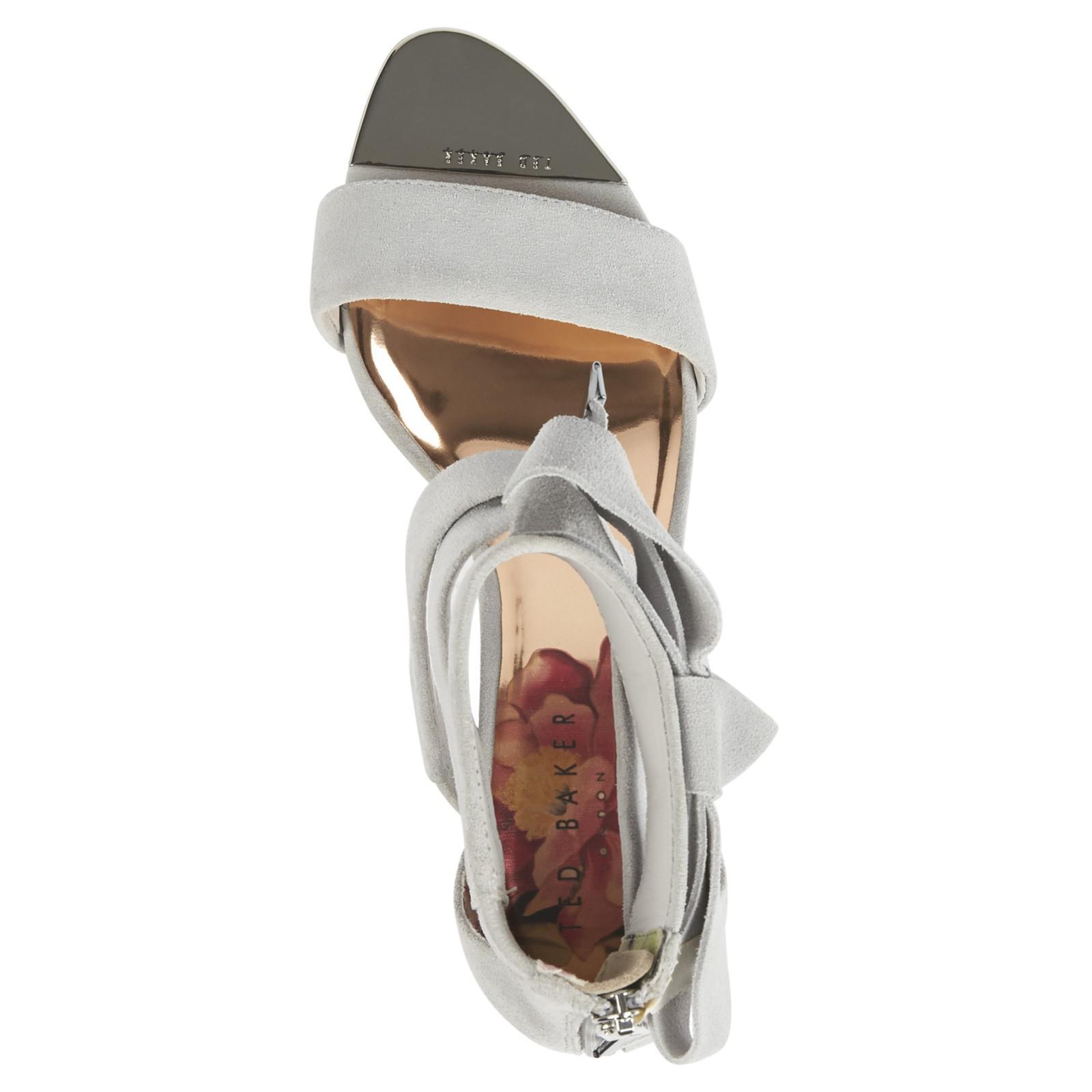 5ecef05ce Ted Baker Noxen Cross Strap Bow Sandals - Lyst