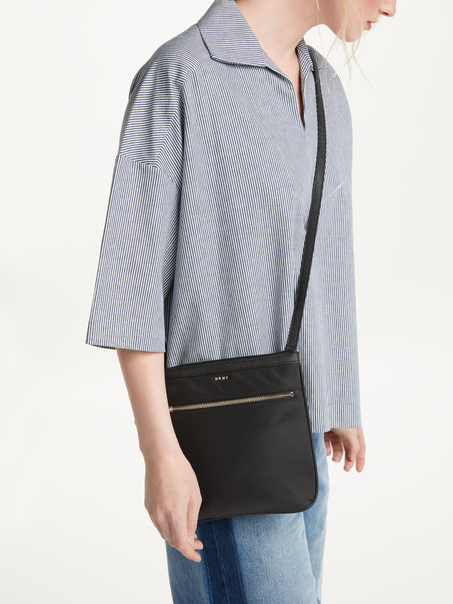 DKNY Synthetic Kaden Medium Cross Body Bag in Black for Men