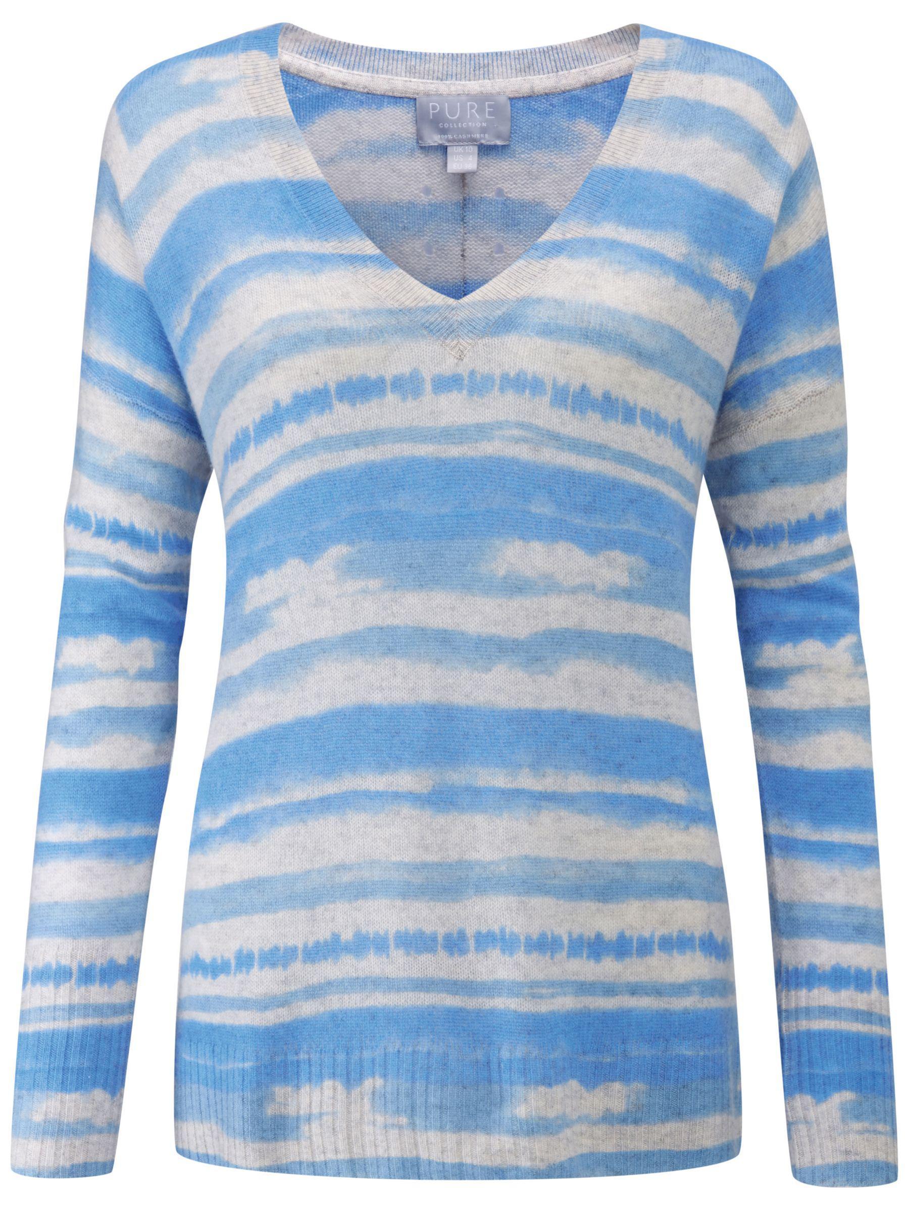 0bd2e3cb3 Pure Collection Gassato Ombre Cashmere V-neck Sweater in Blue - Lyst