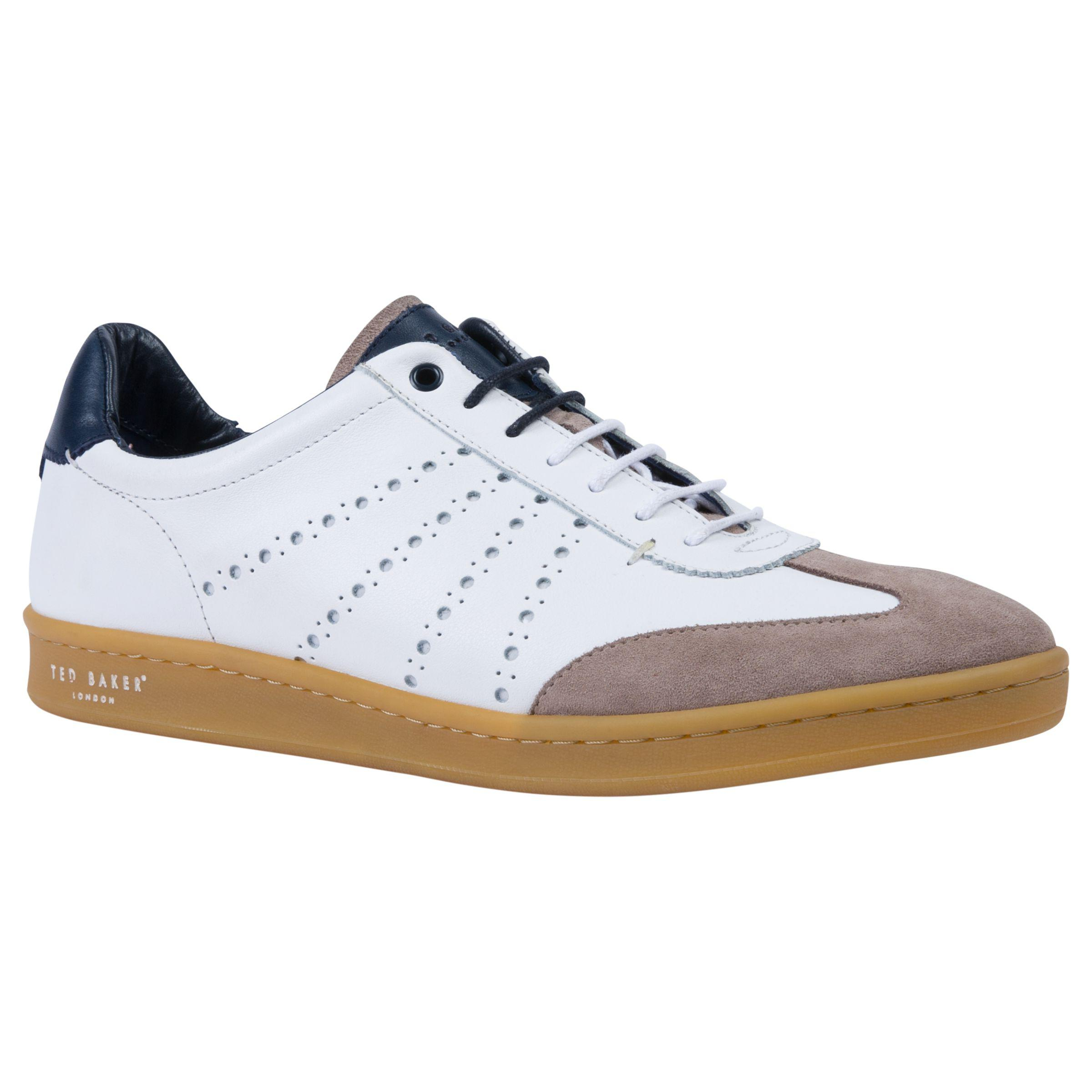 Ted Baker Leather Orleem Retro Cupsole Trainers in White for Men