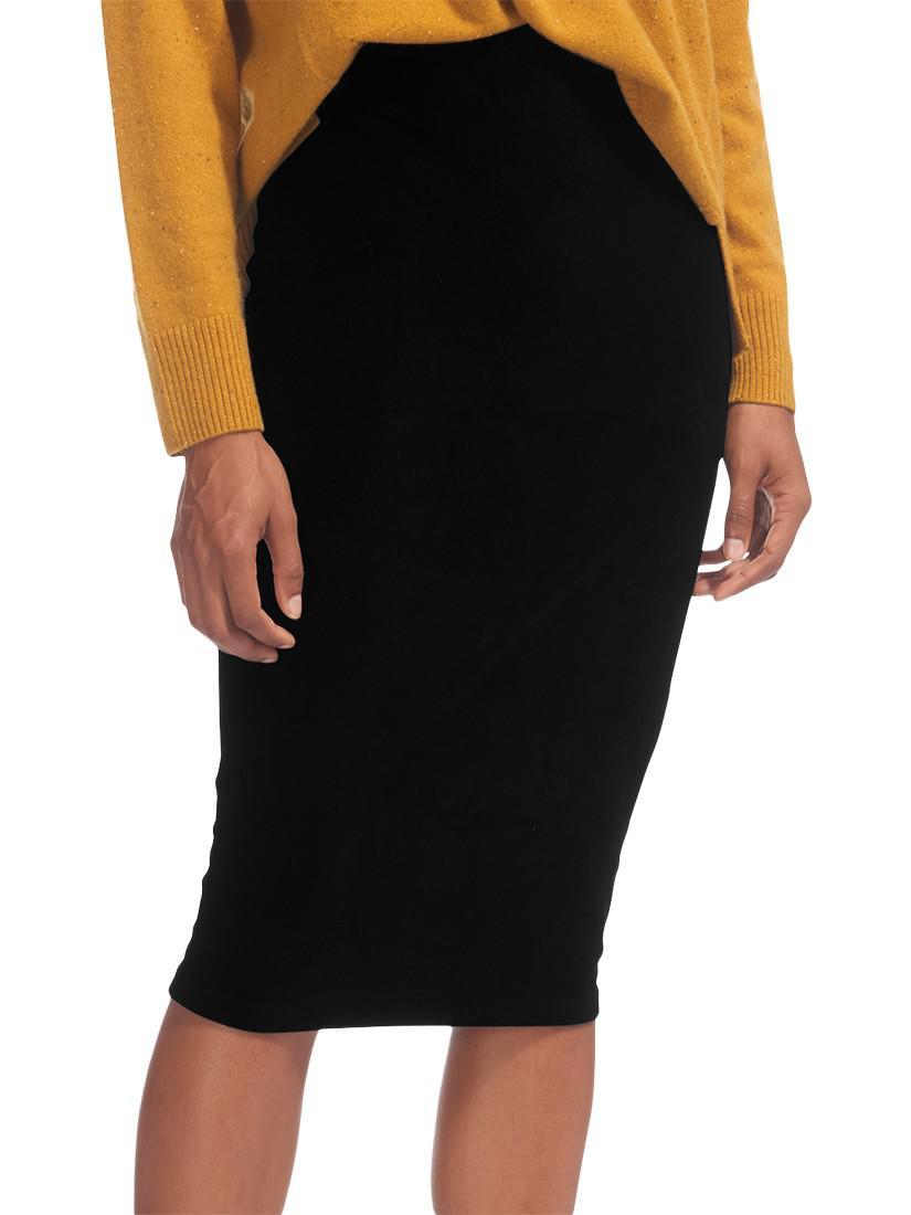 88d081eaa8 Whistles Velvet Jersey Tube Skirt in Black - Lyst
