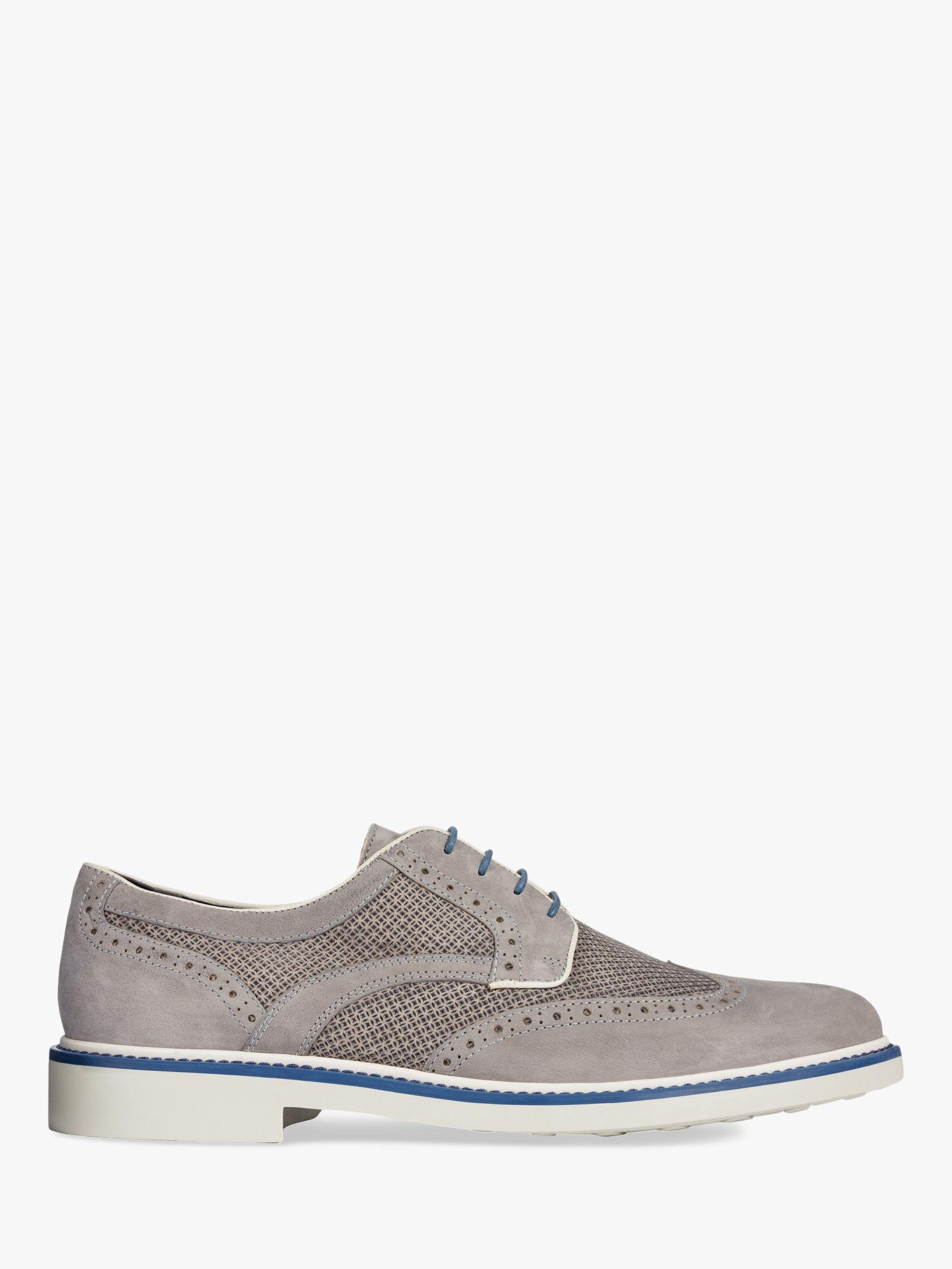 b6e7bb8968 Geox Silmor Suede Derby Shoes in Gray for Men - Lyst