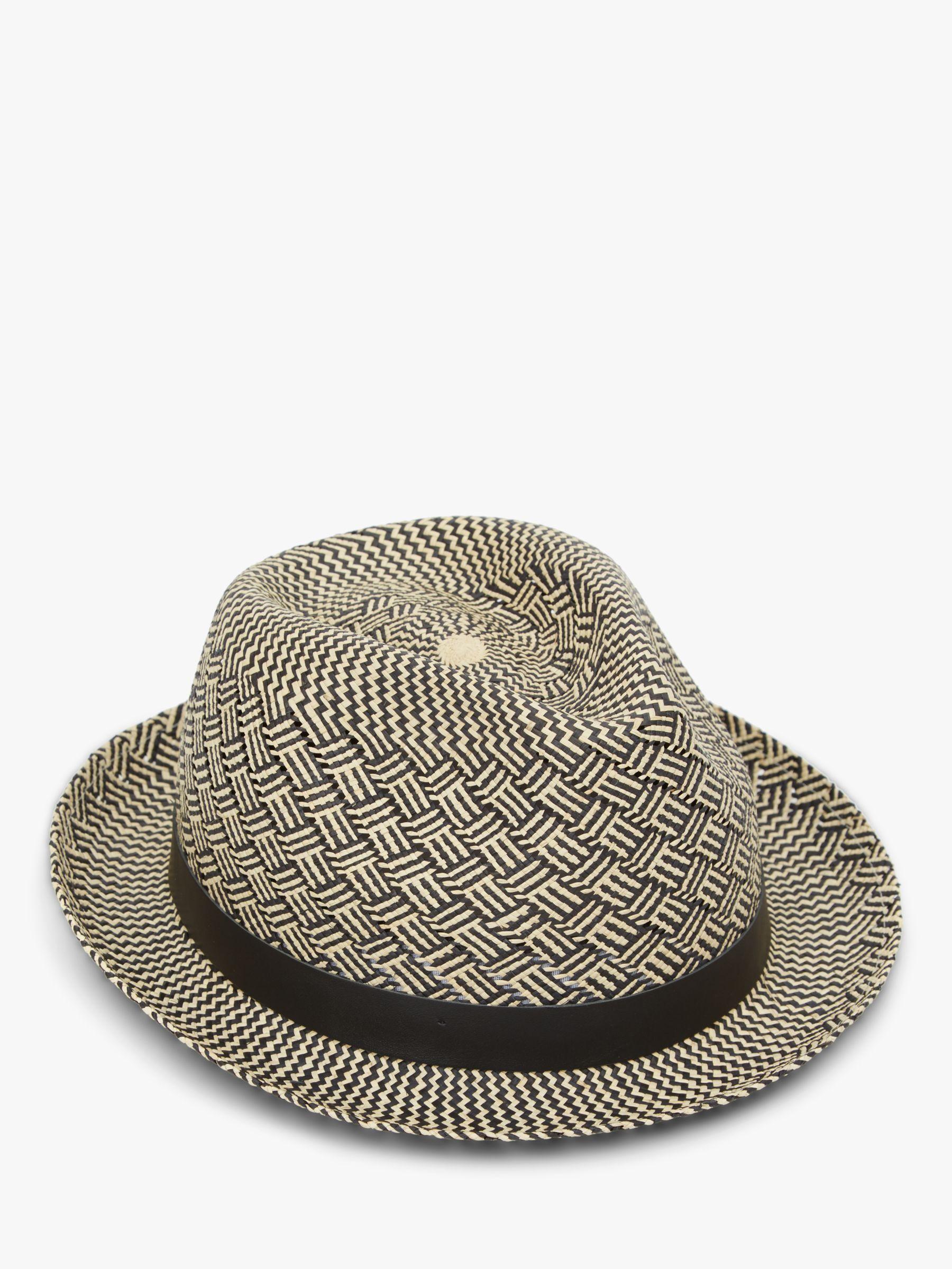 19261ae64 Christys' Black Charlie Parquet Panama Hat for men