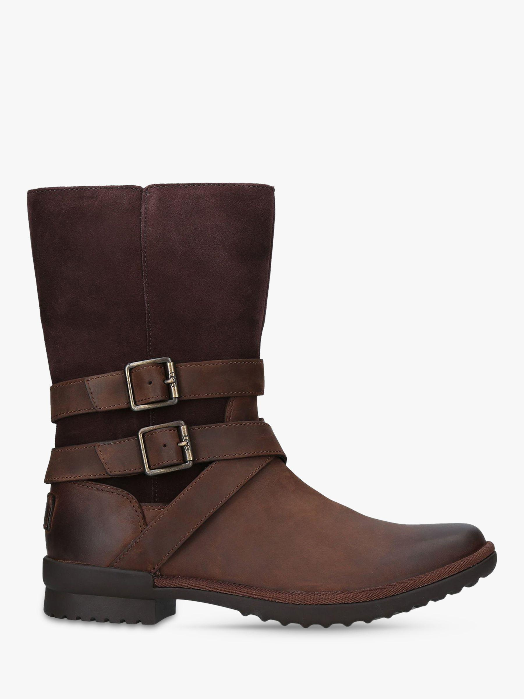 3918c94149c Ugg Brown Lorna Buckle Ankle Boots