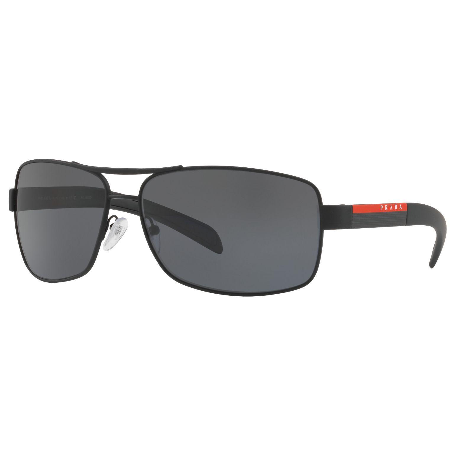 59af992c7 Prada Linea Rossa Ps 54is Polarised Rectangular Sunglasses in Black ...